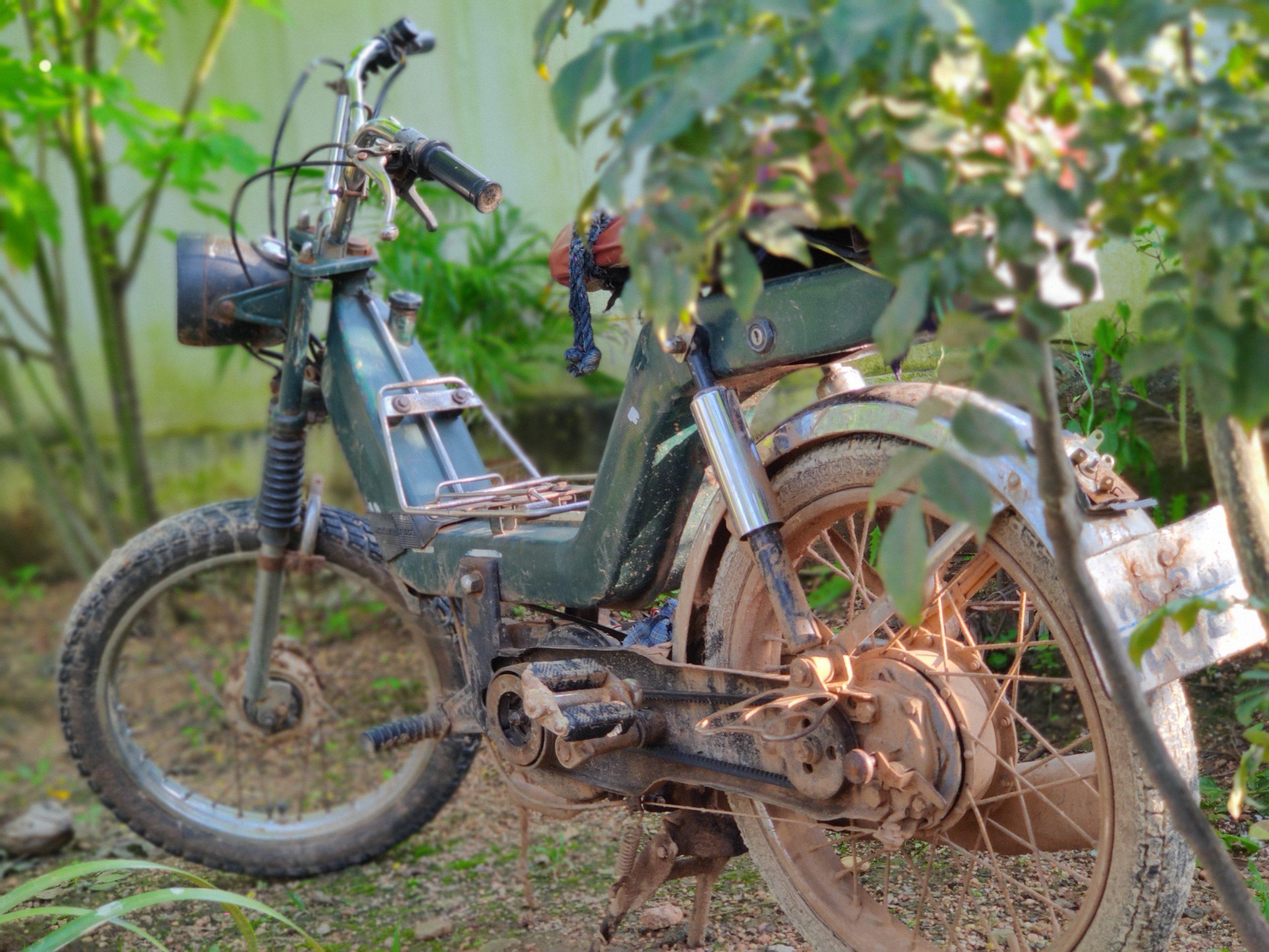 An old moped bike