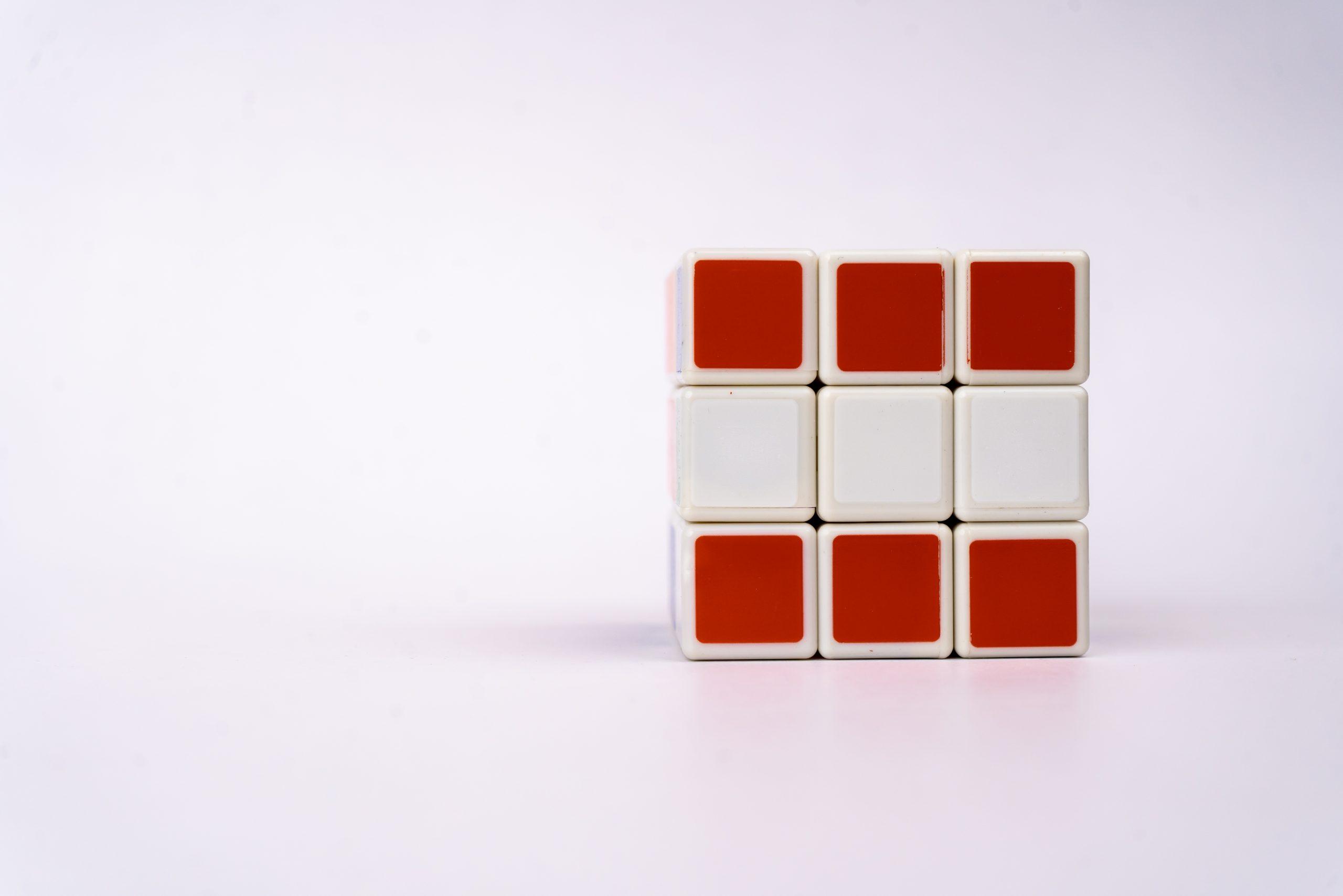Austrian flag on Rubik cube