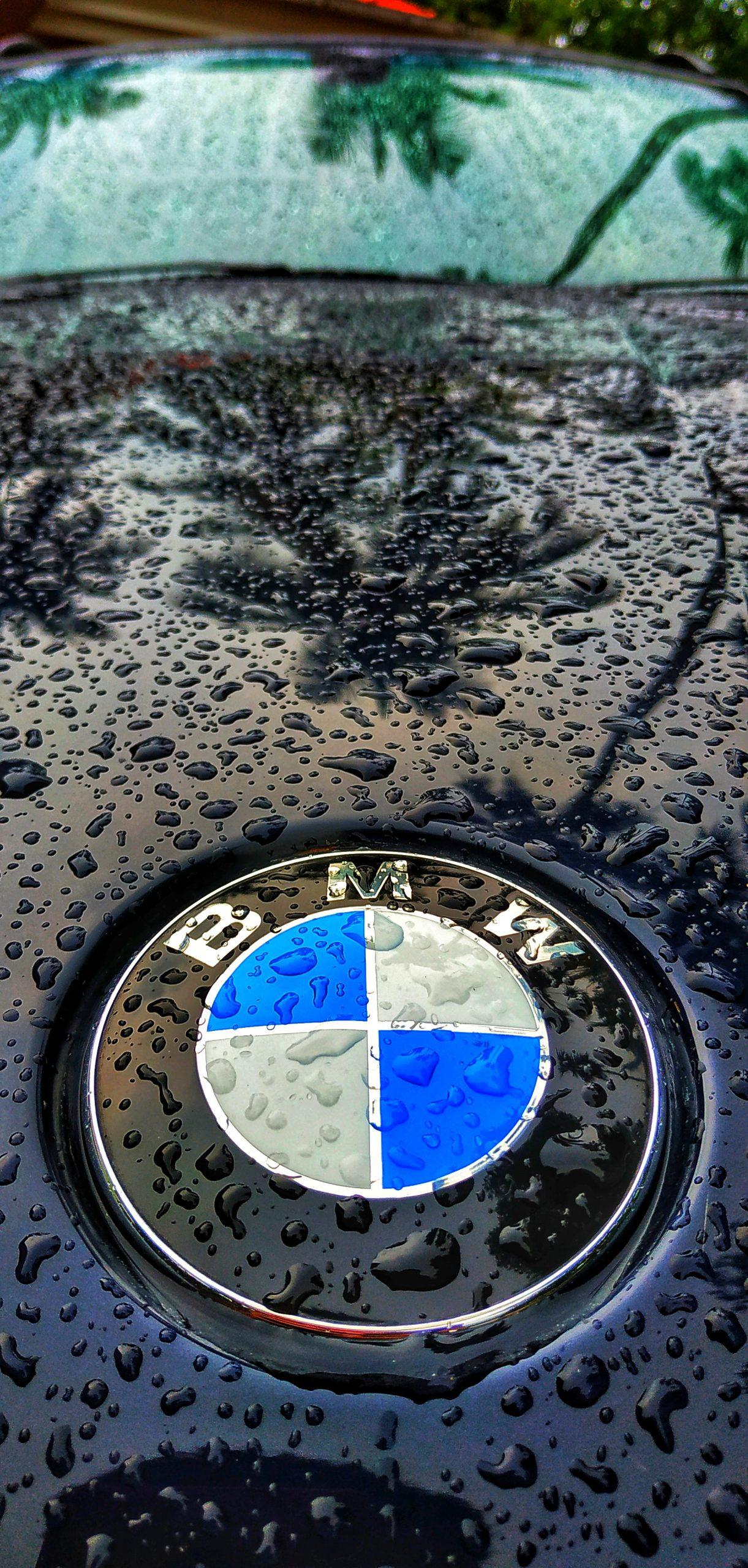 BMW Car in the Rain