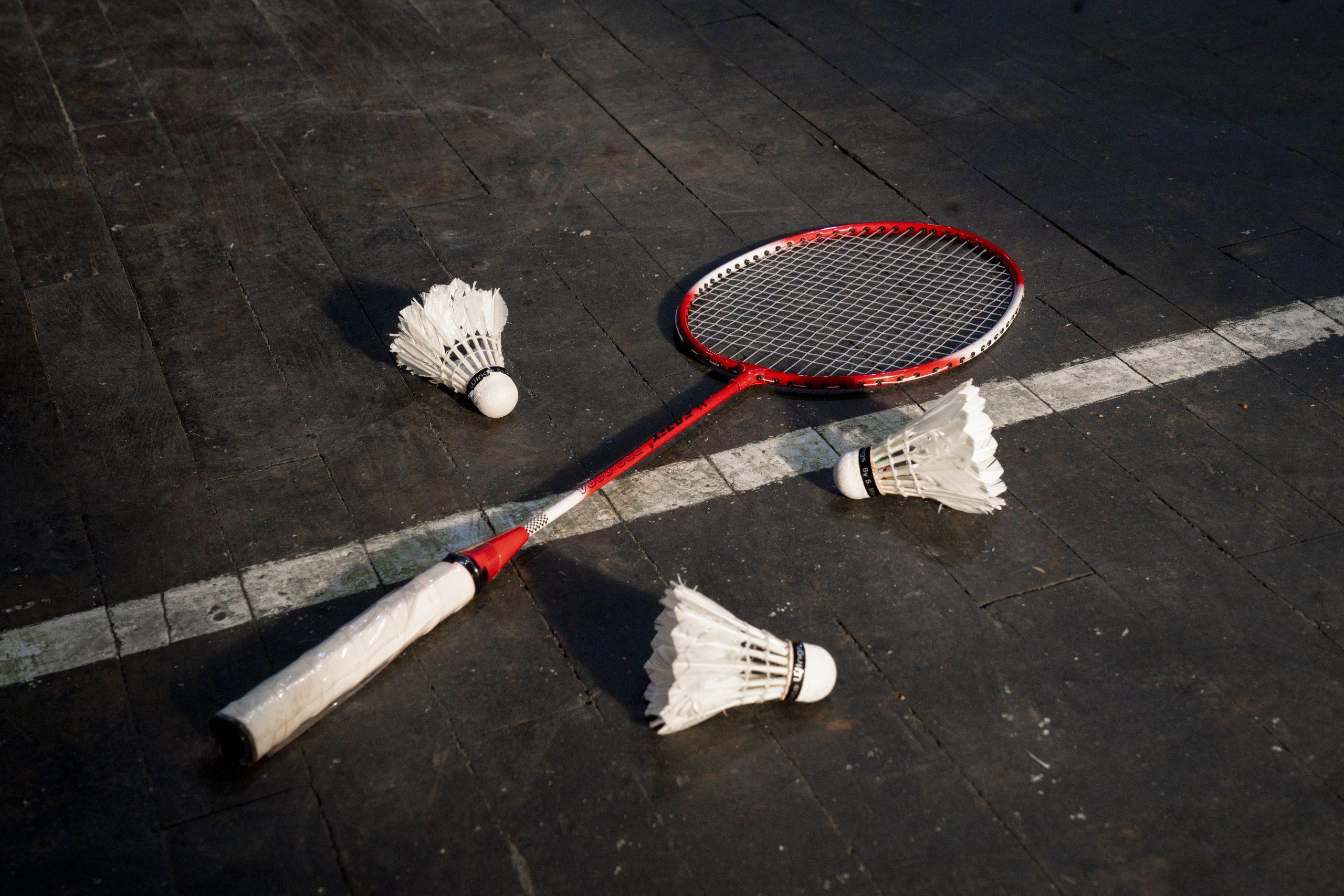 badminton and shuttle cocks