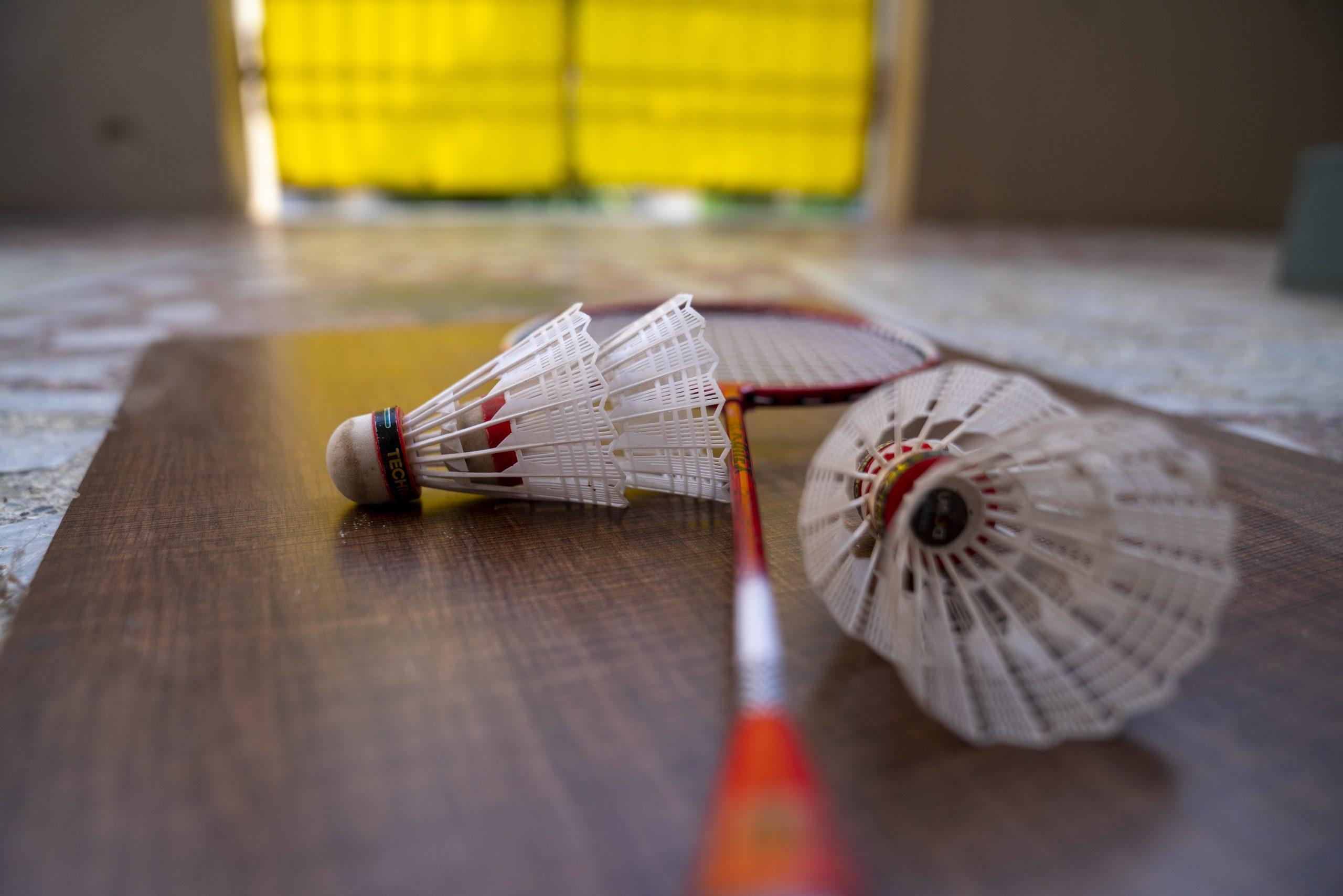 Badminton sports photography