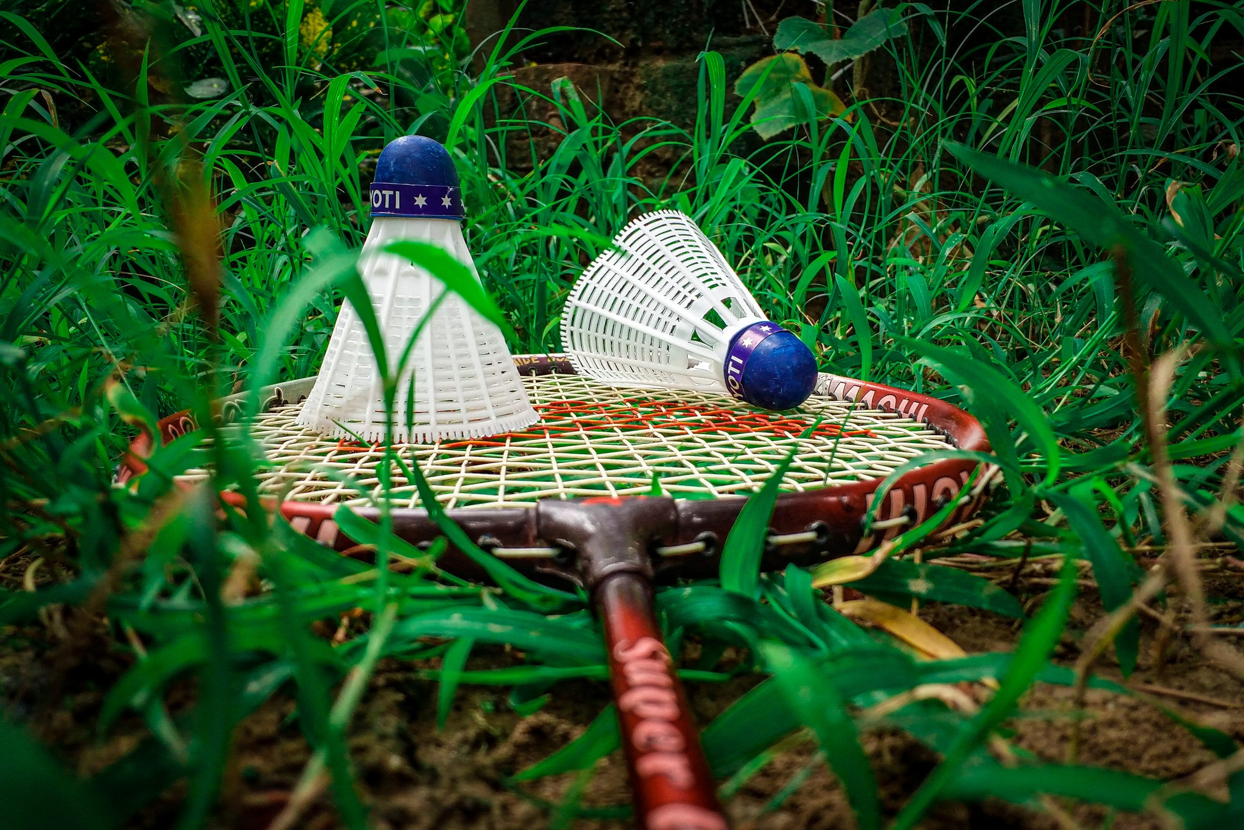 badminton with shuttlecock