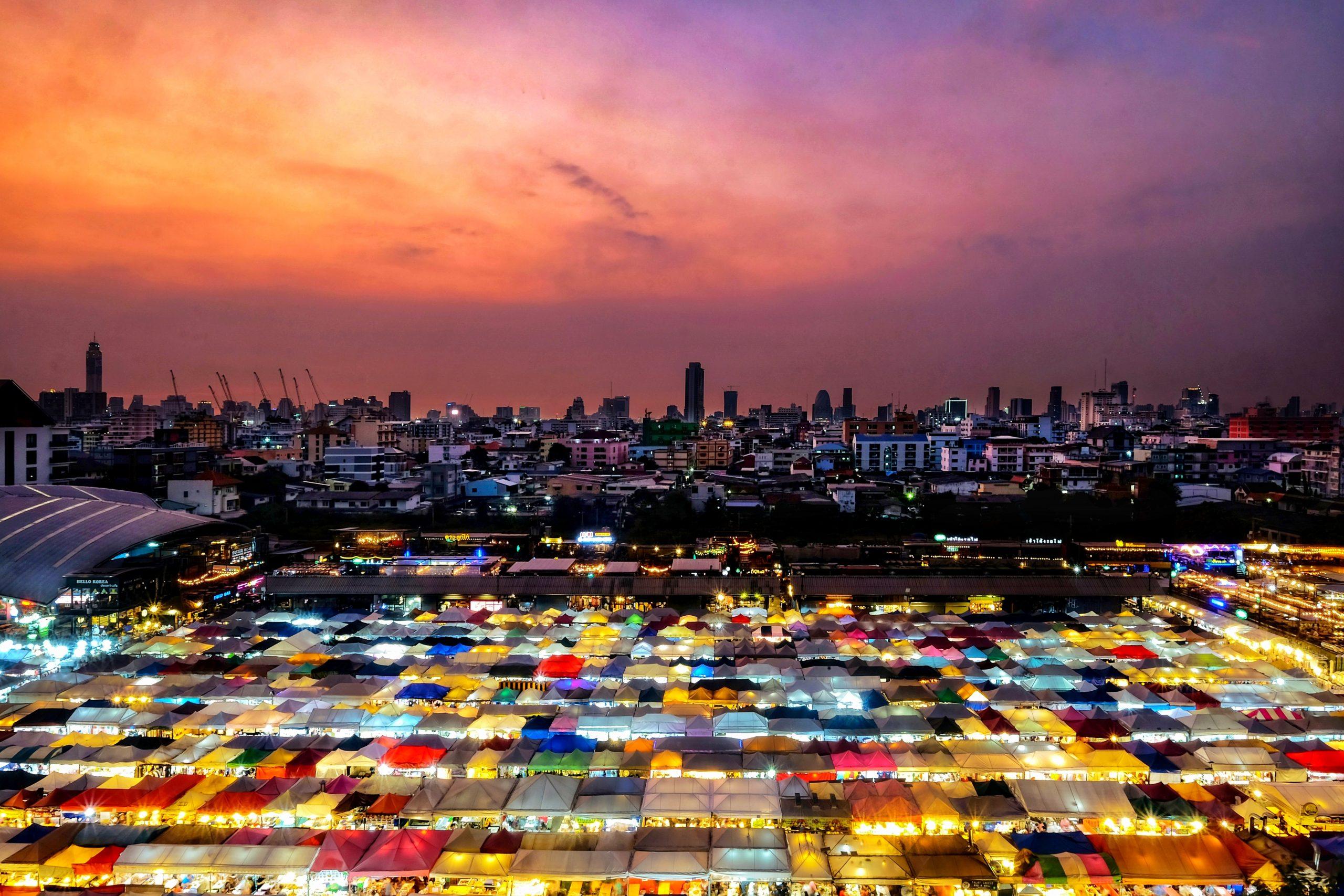 Bangkok city evening view