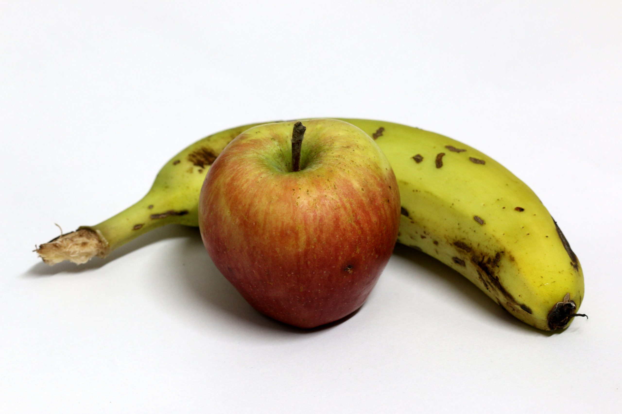 Bannana and apple
