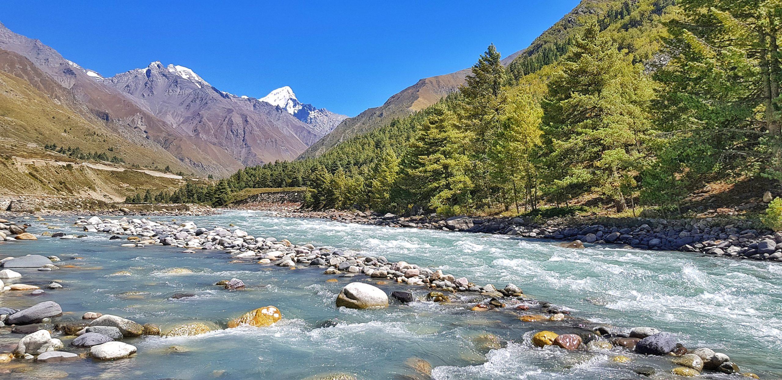 Baspa river flowing through Chitkul