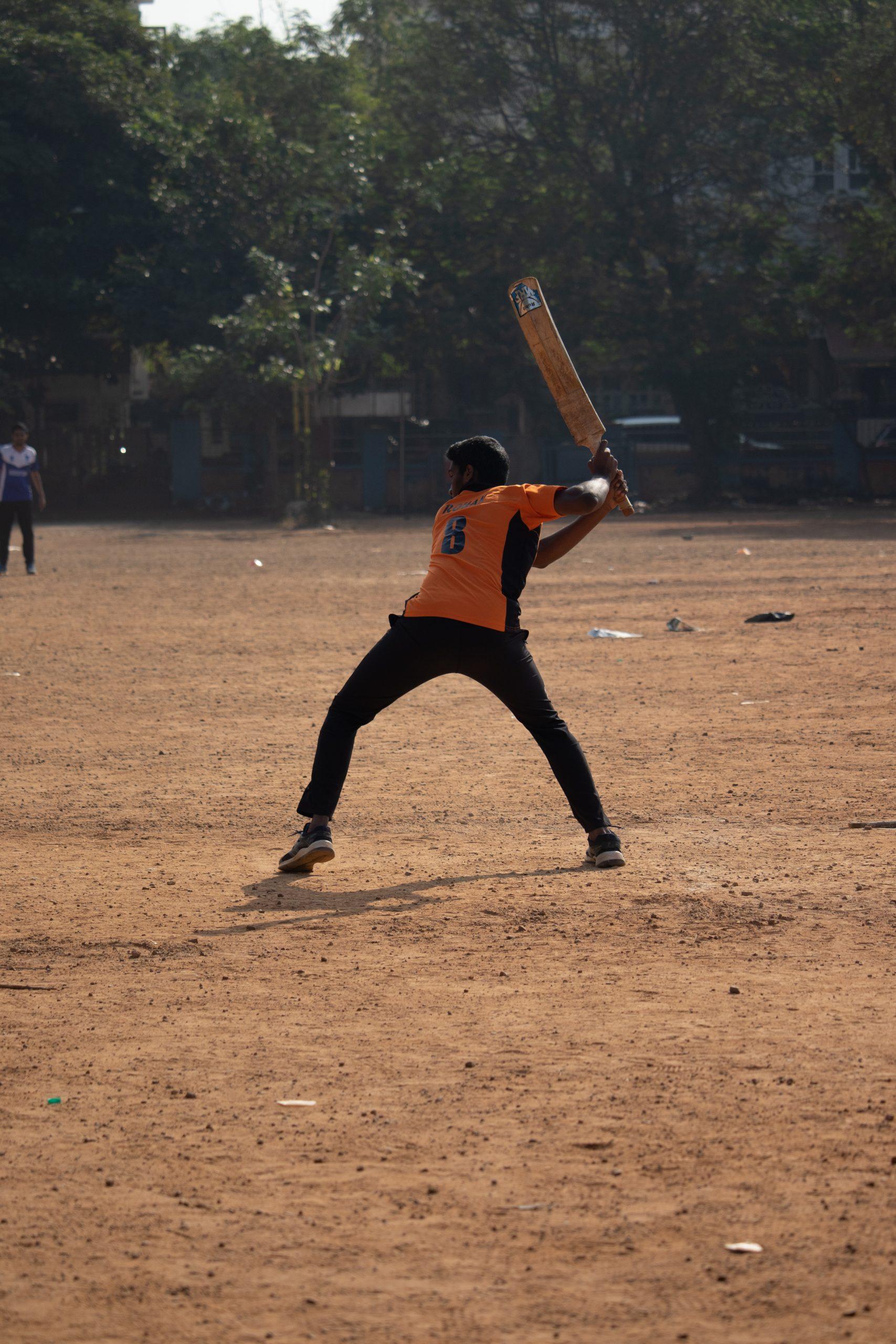 Batsman in action