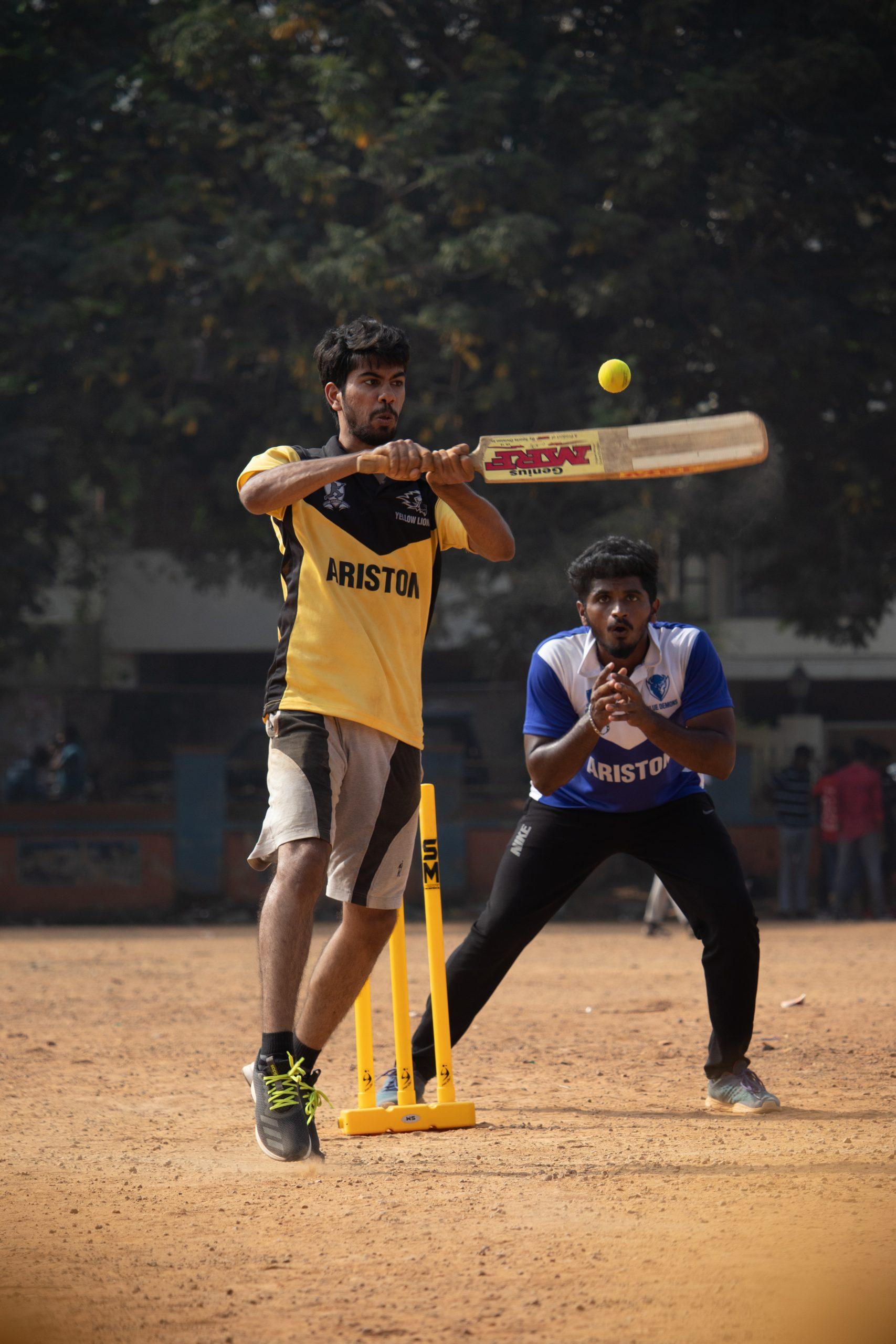 batsman hitting his shot