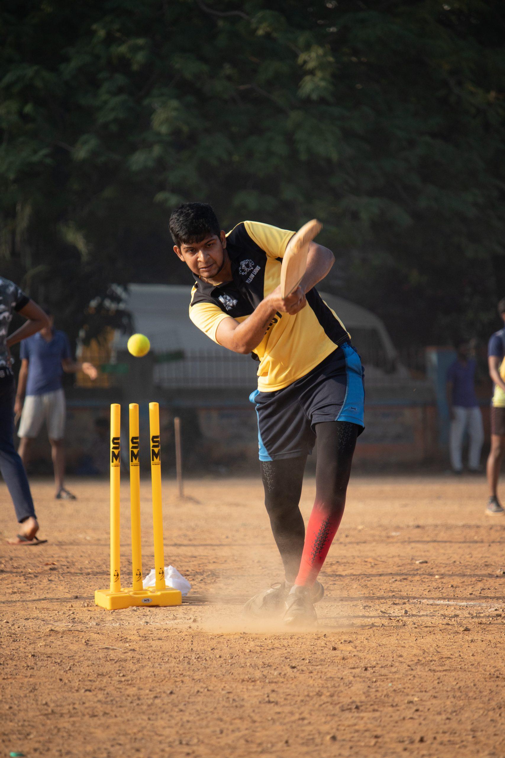 Batsman smashes a stunning shot