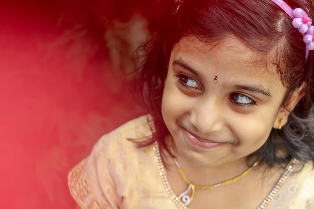 Beautiful indian little girl smiling