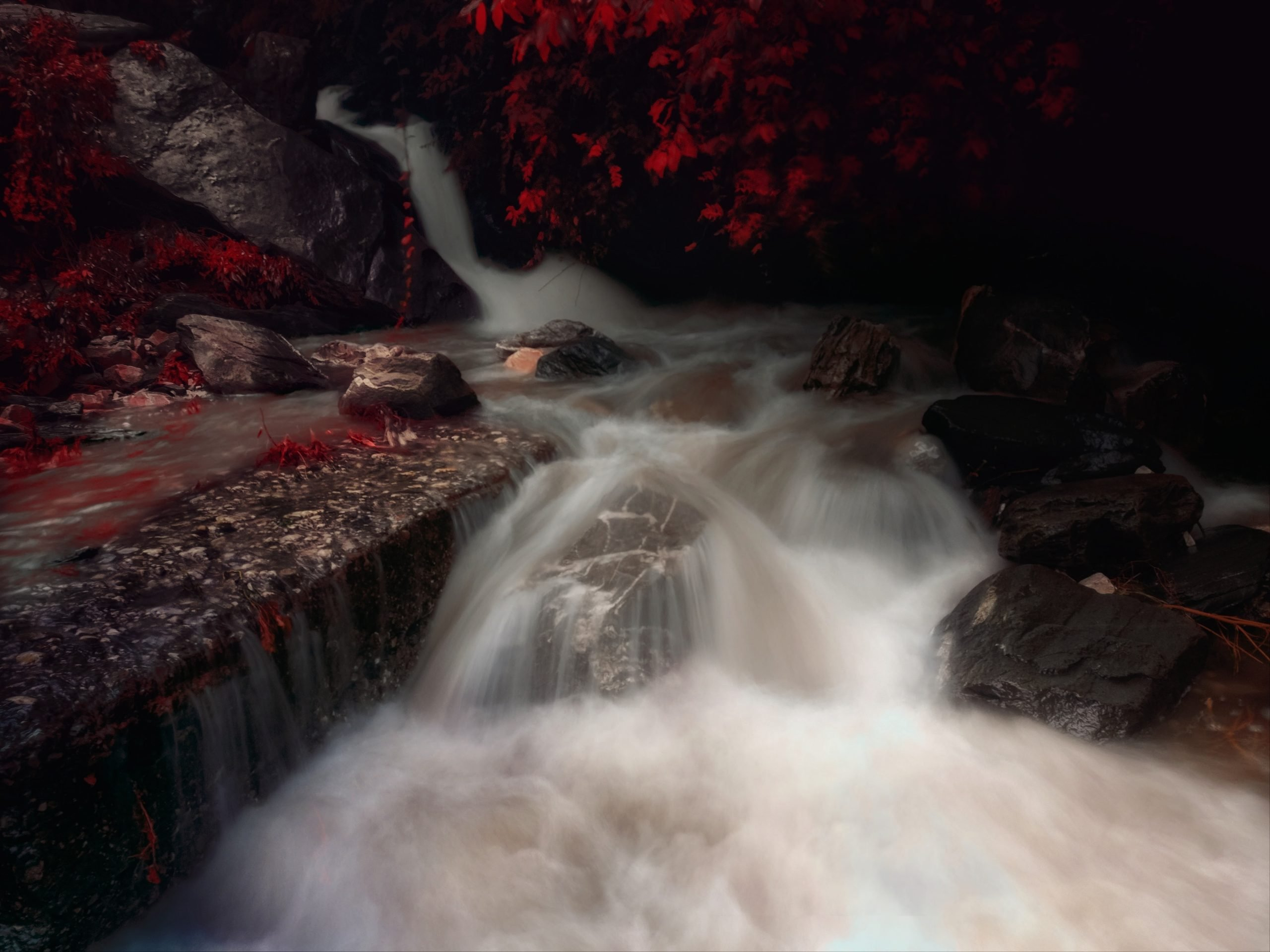 Beautiful long exposure waterfall.