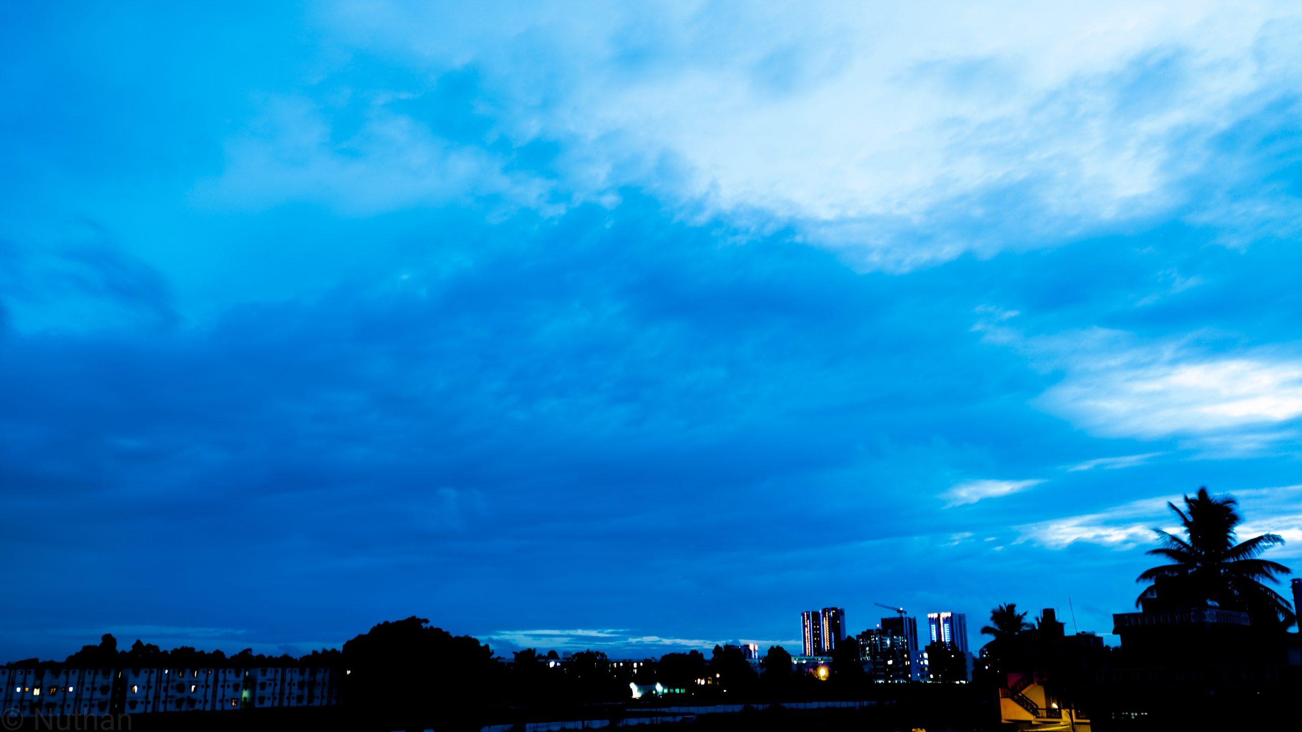 Beauty of sky over a city