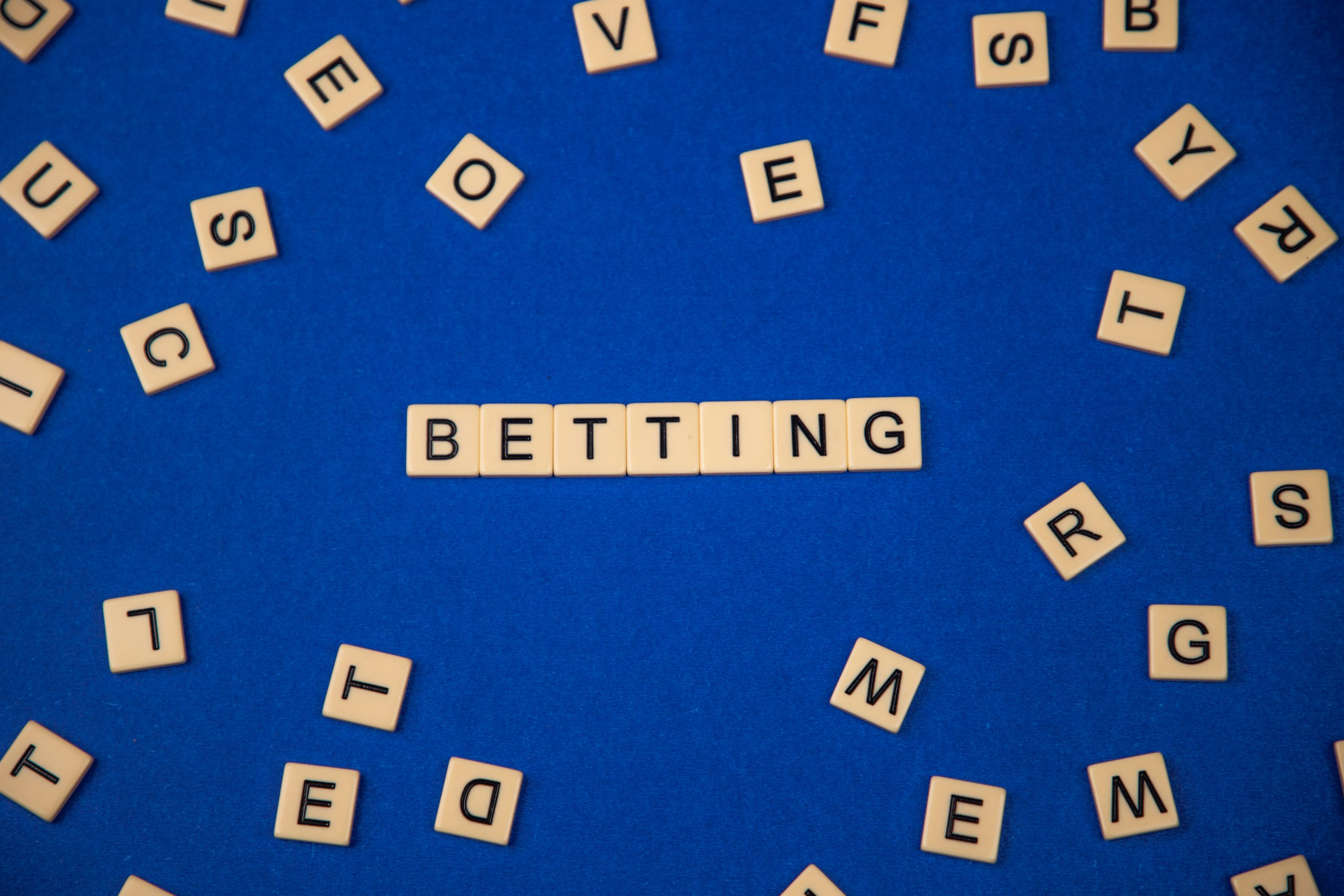 Word Betting written with scrabble tiles