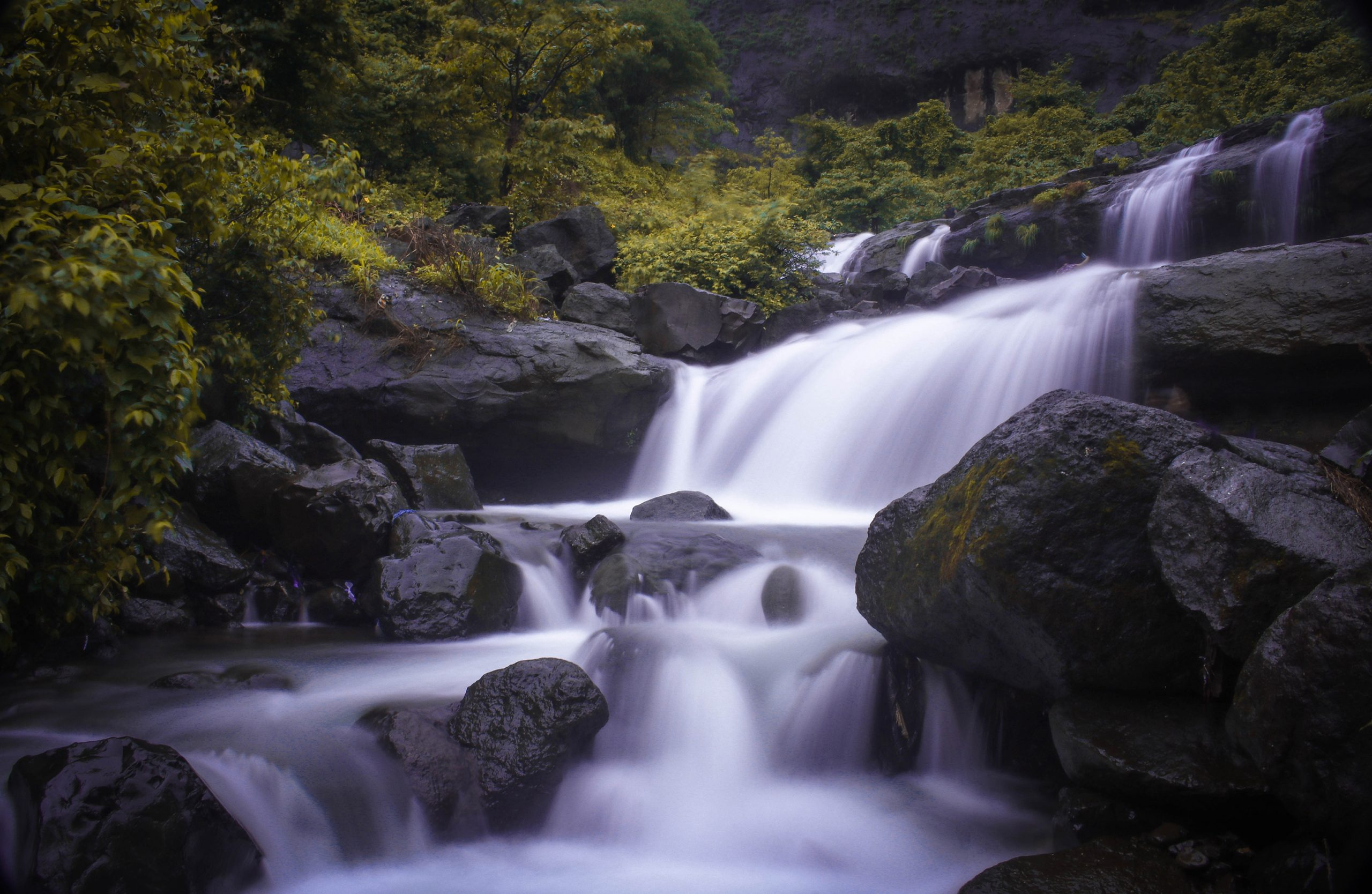 Beautiful Bhivpuri waterfalls in Maharashtra.