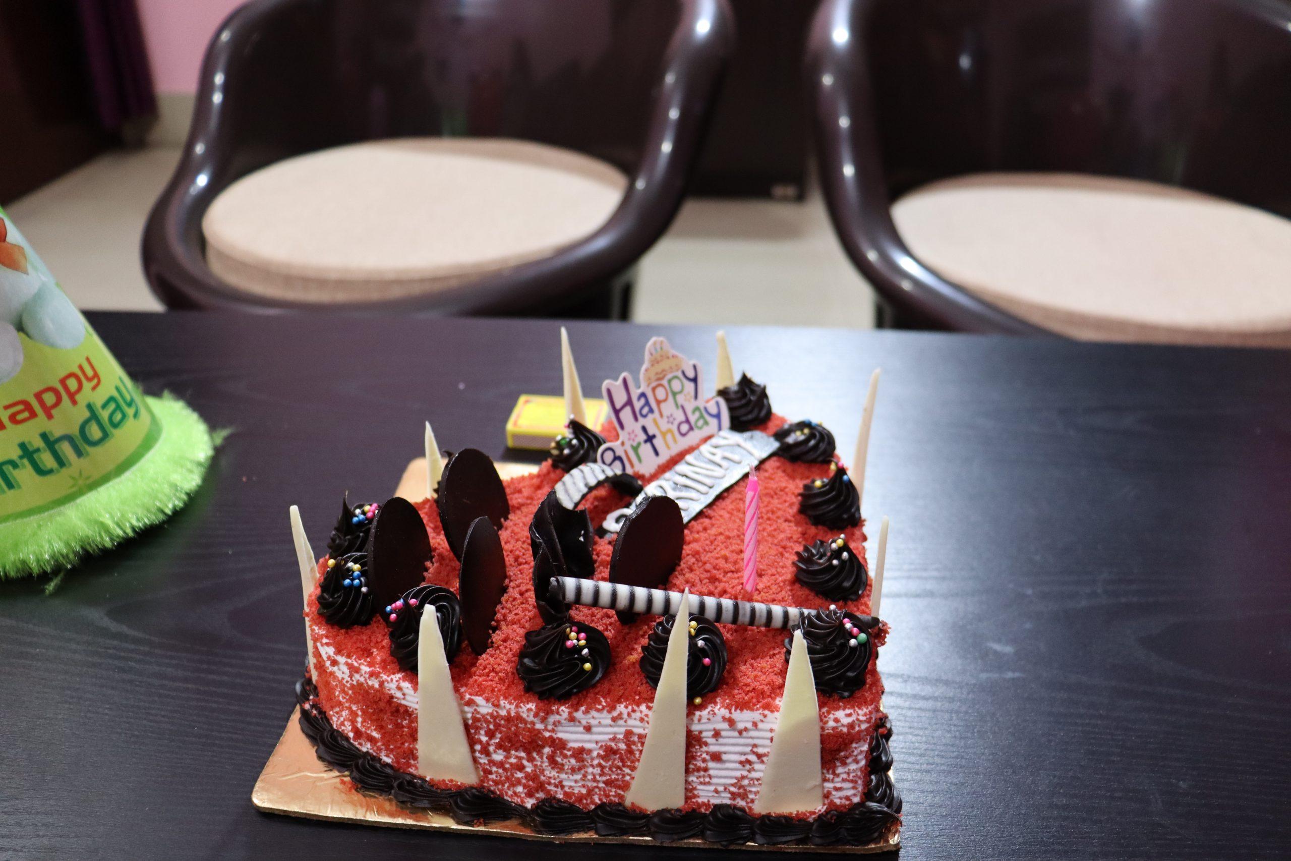 Birthday Heart cake