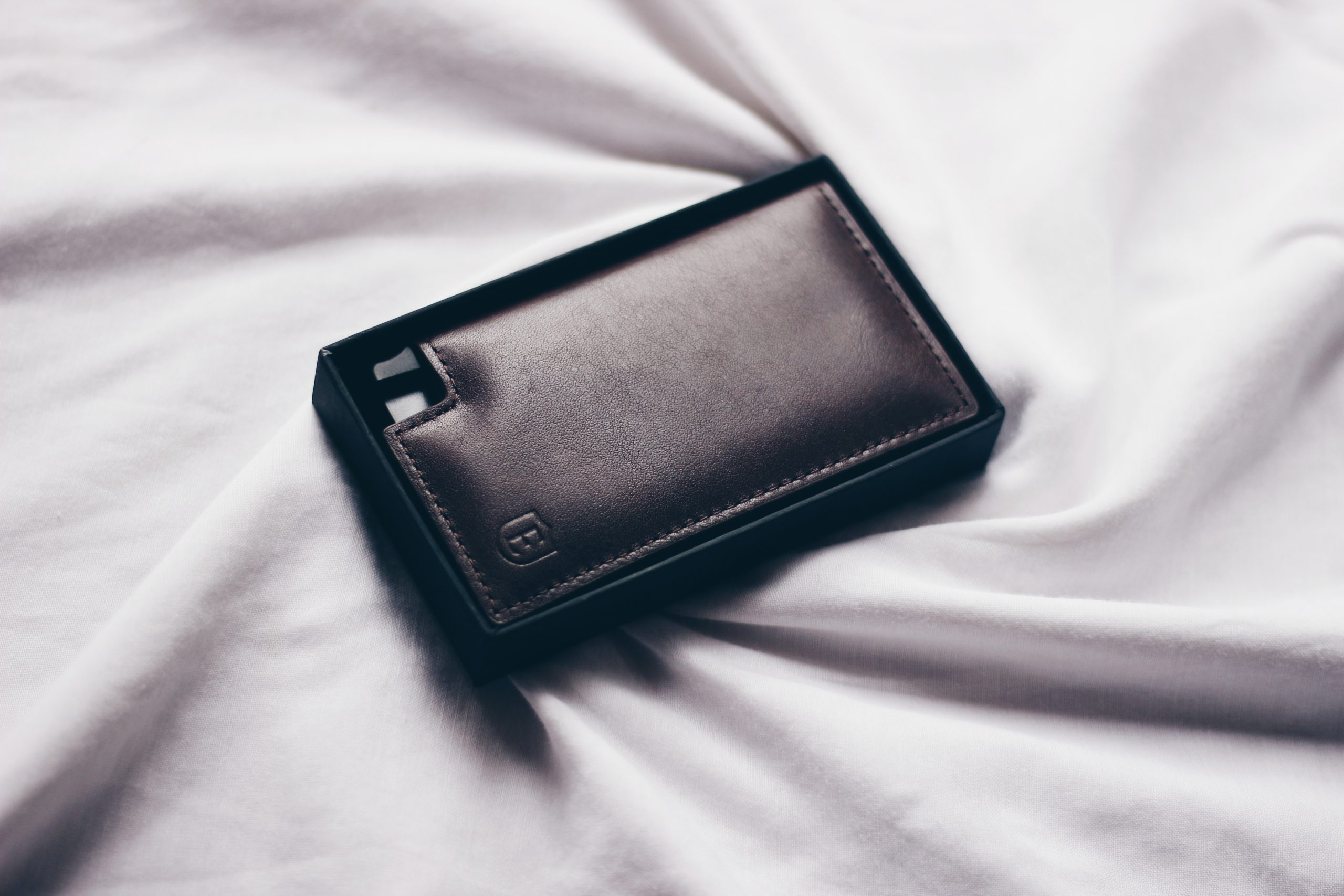 Leather Wallet on Flat Lay