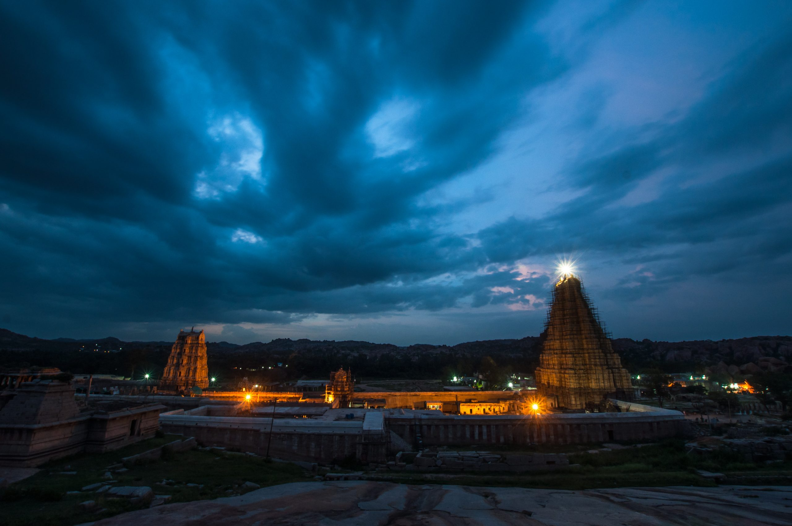 temple in the evening