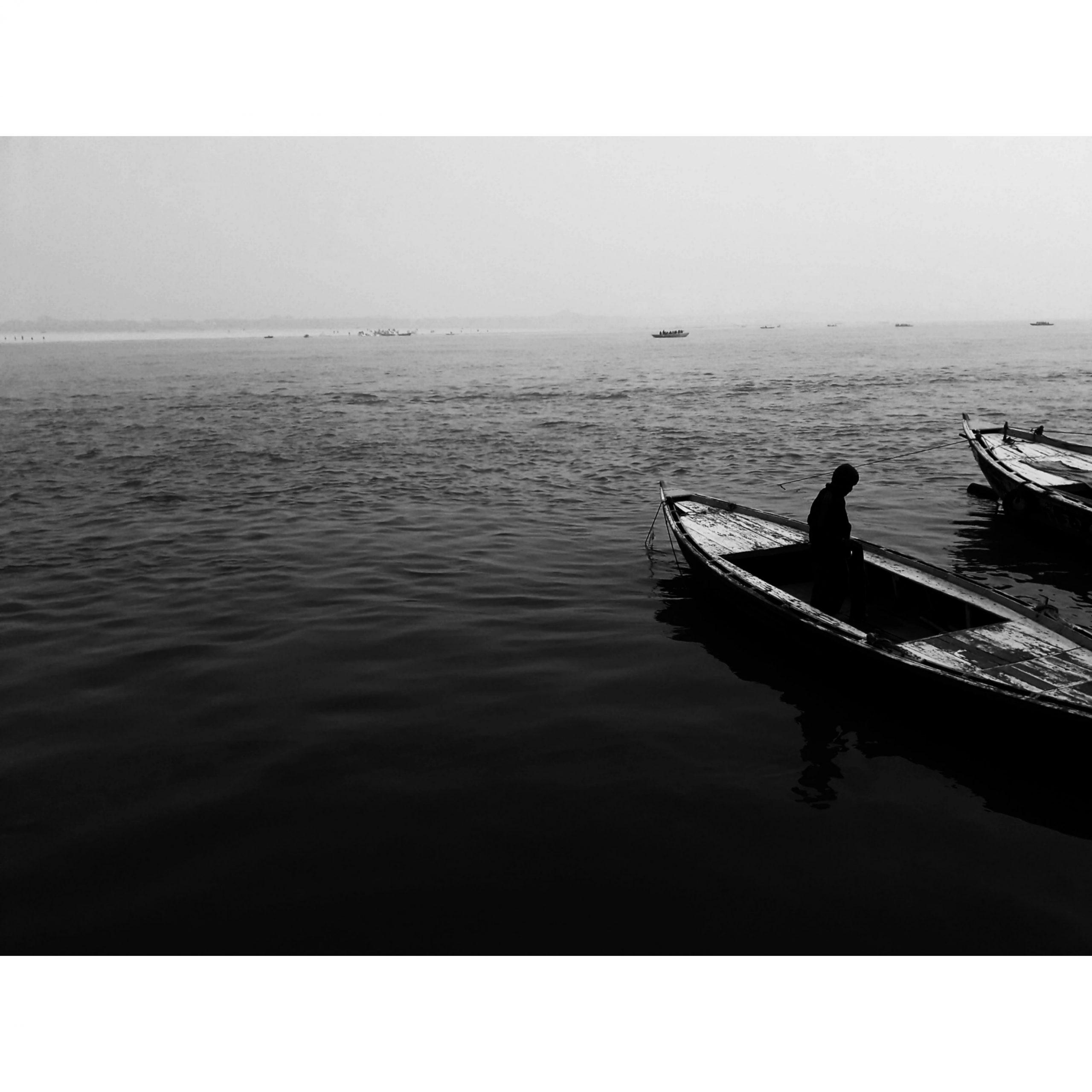 Boats in Gang river Varanasi