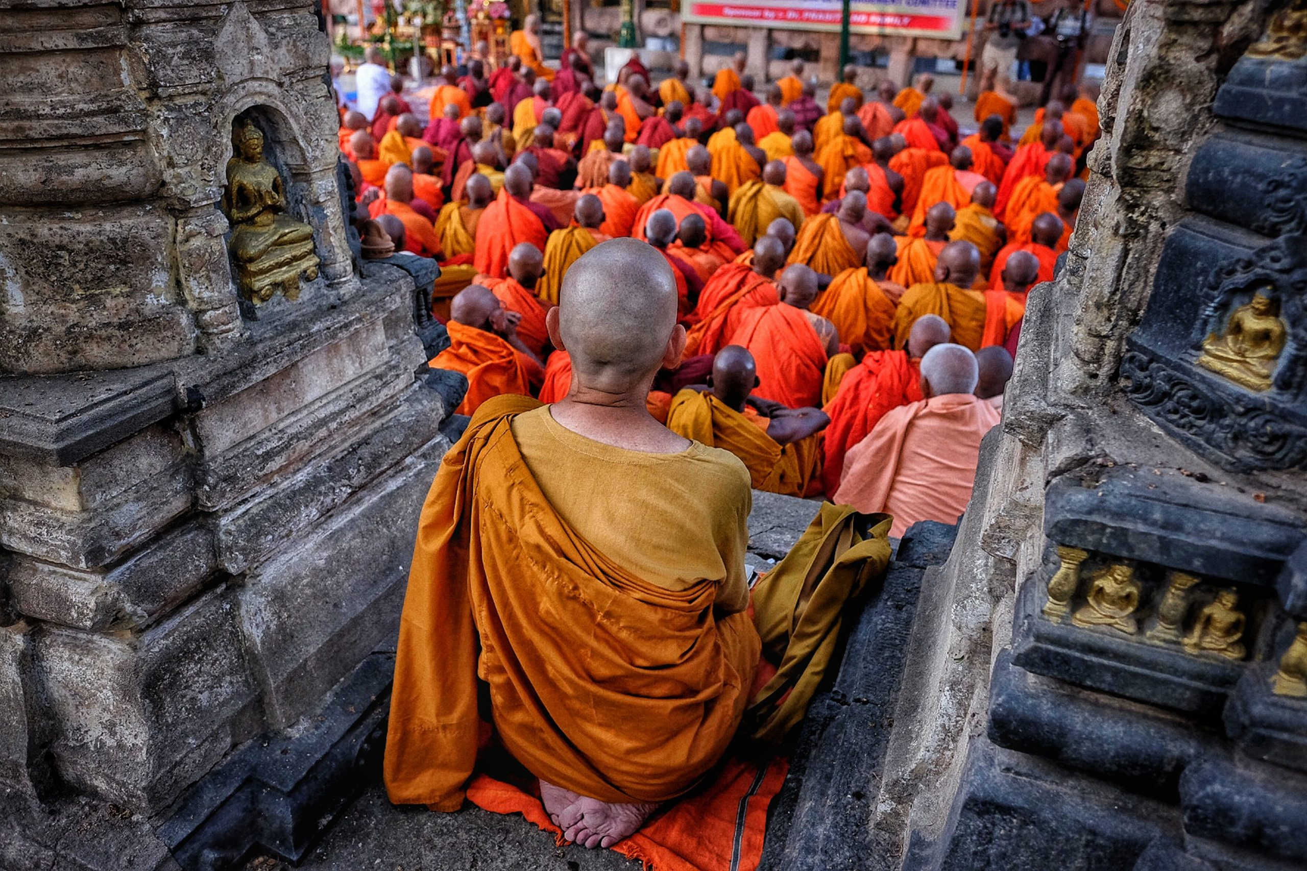 pilgrims at Bodh Gaya