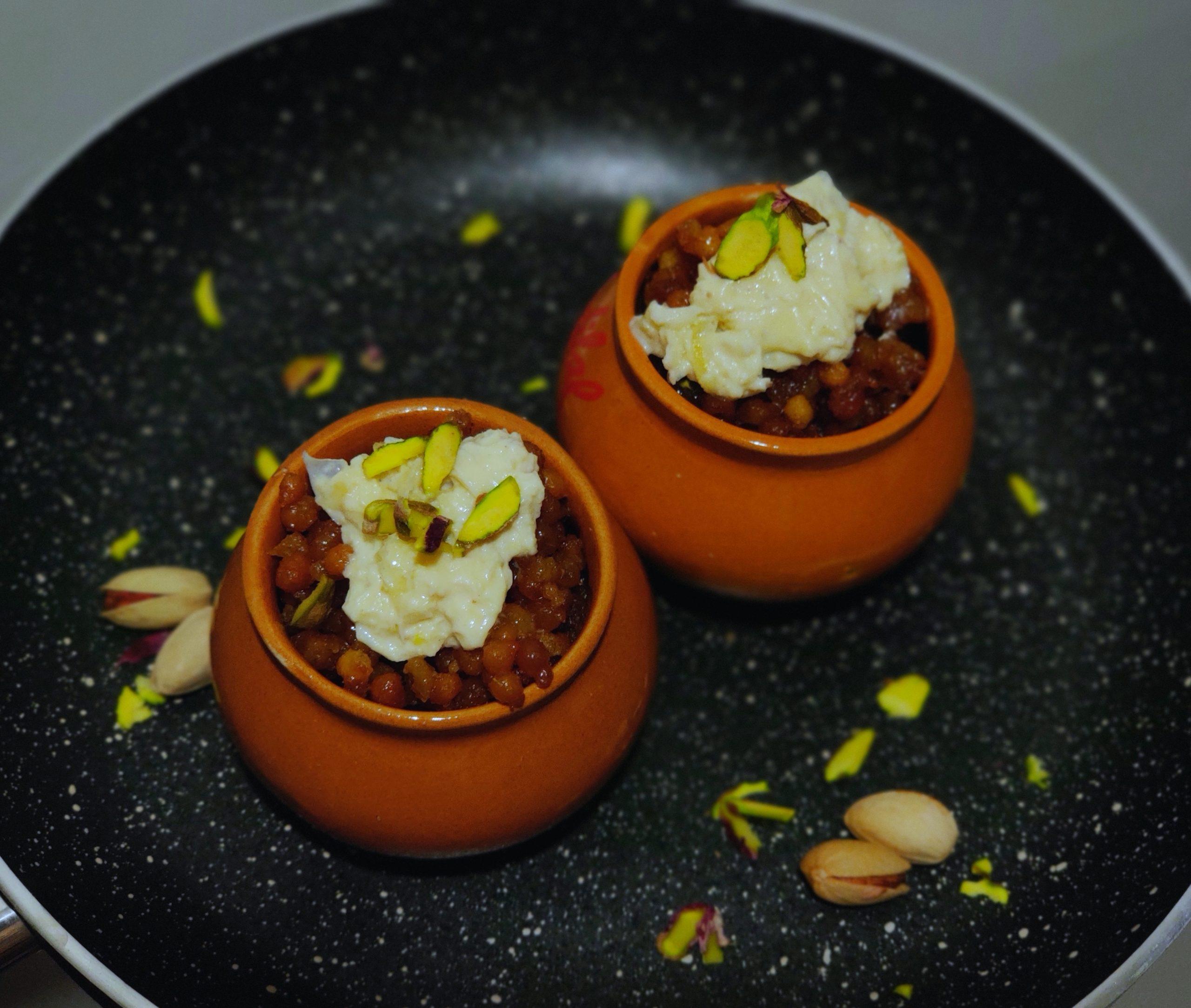 Boondi Dessert with Rabdi