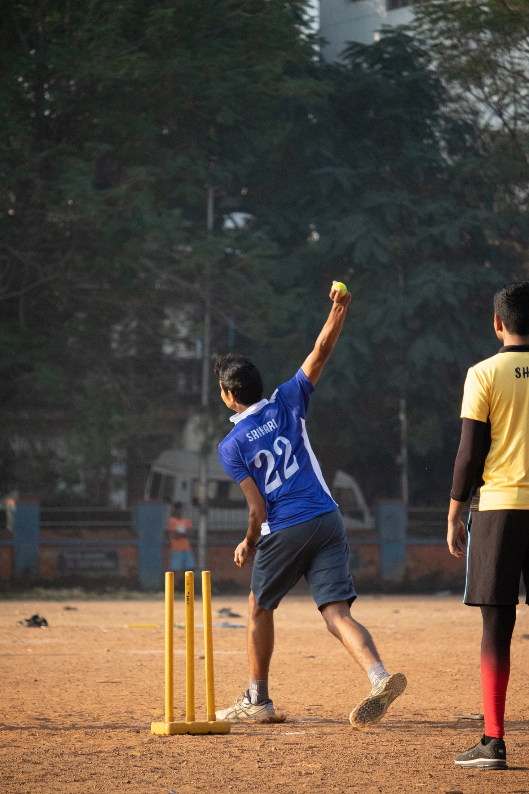 Bowler About to bowl a ball