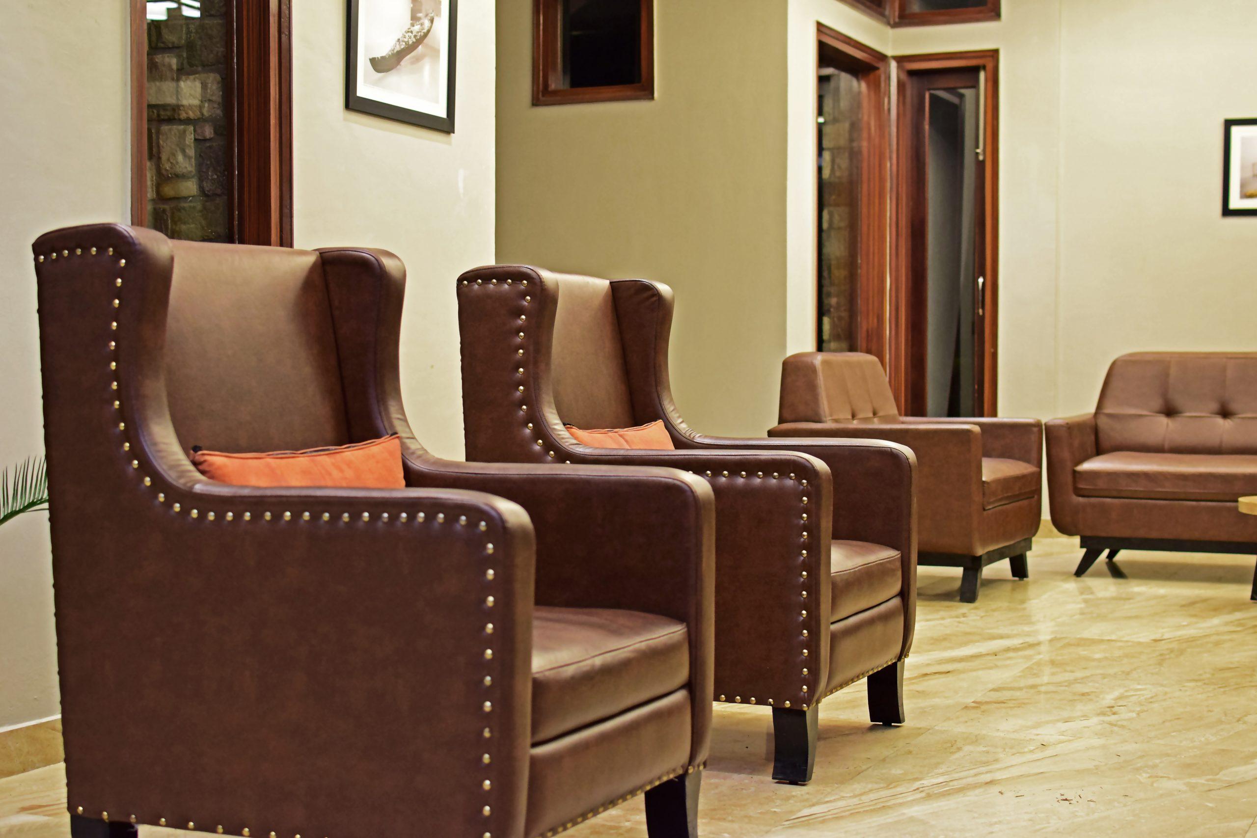 Brown Sofa Arrangement