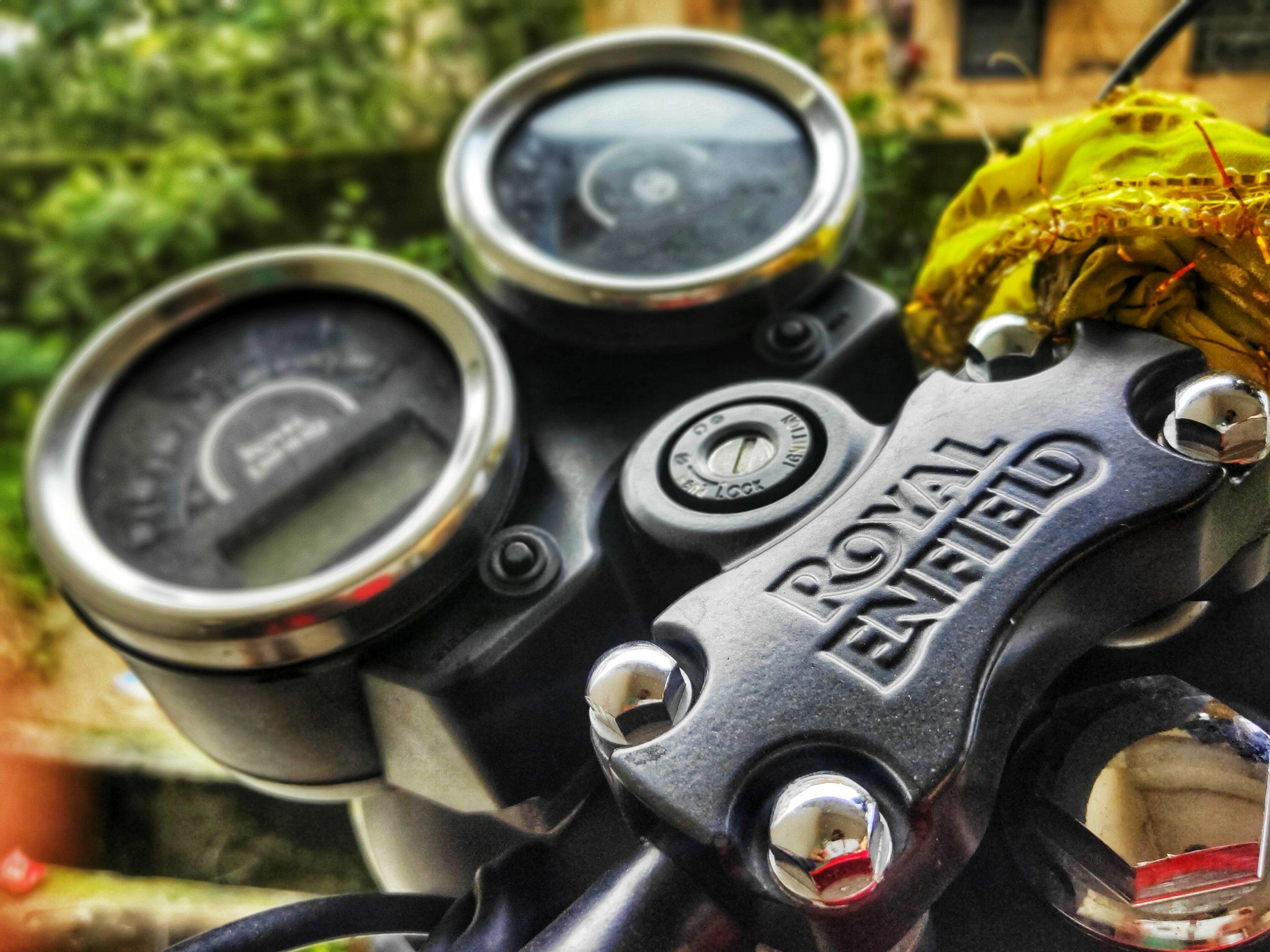 Bullet bike's speedometer