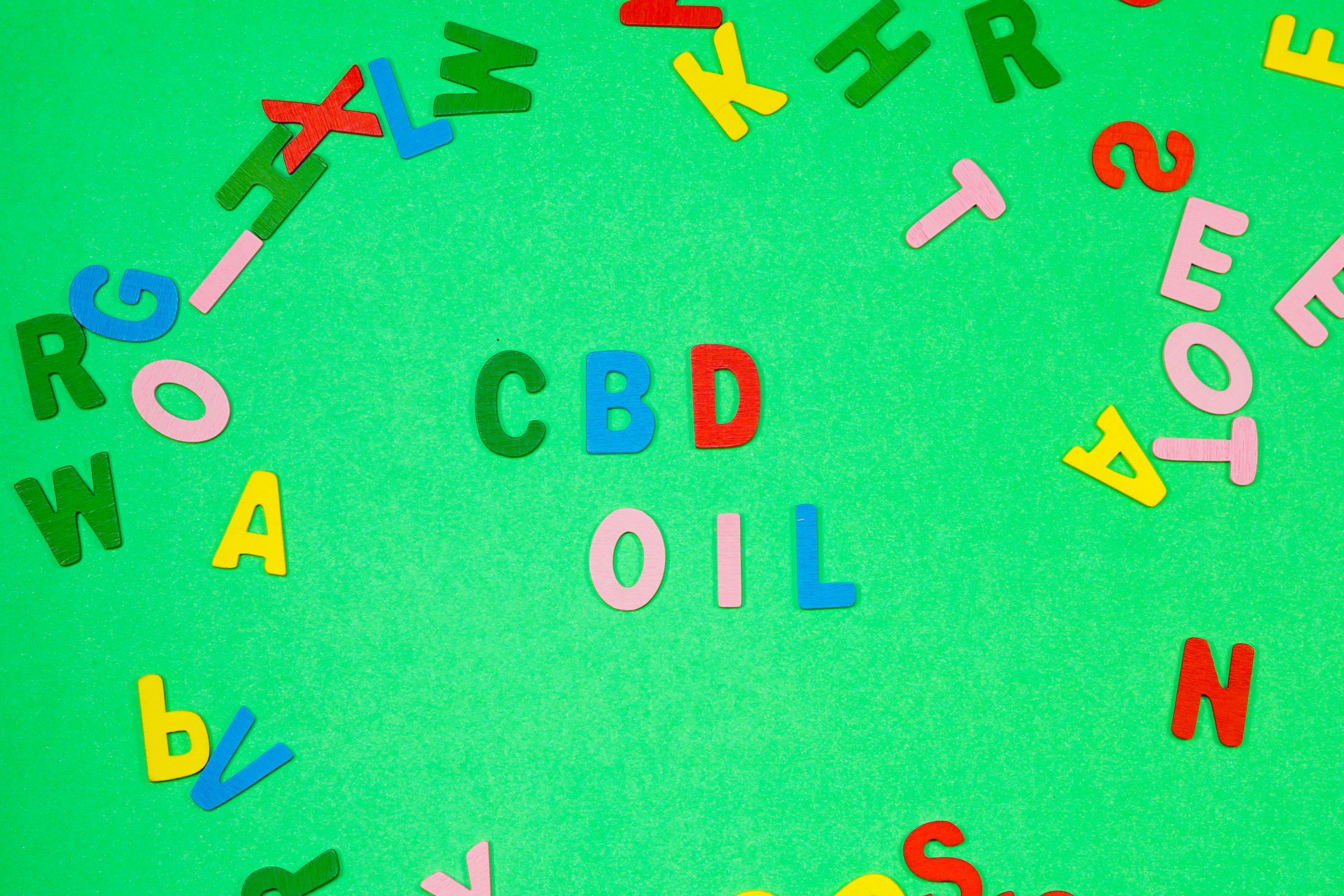 CBD oil Written with Scrabble