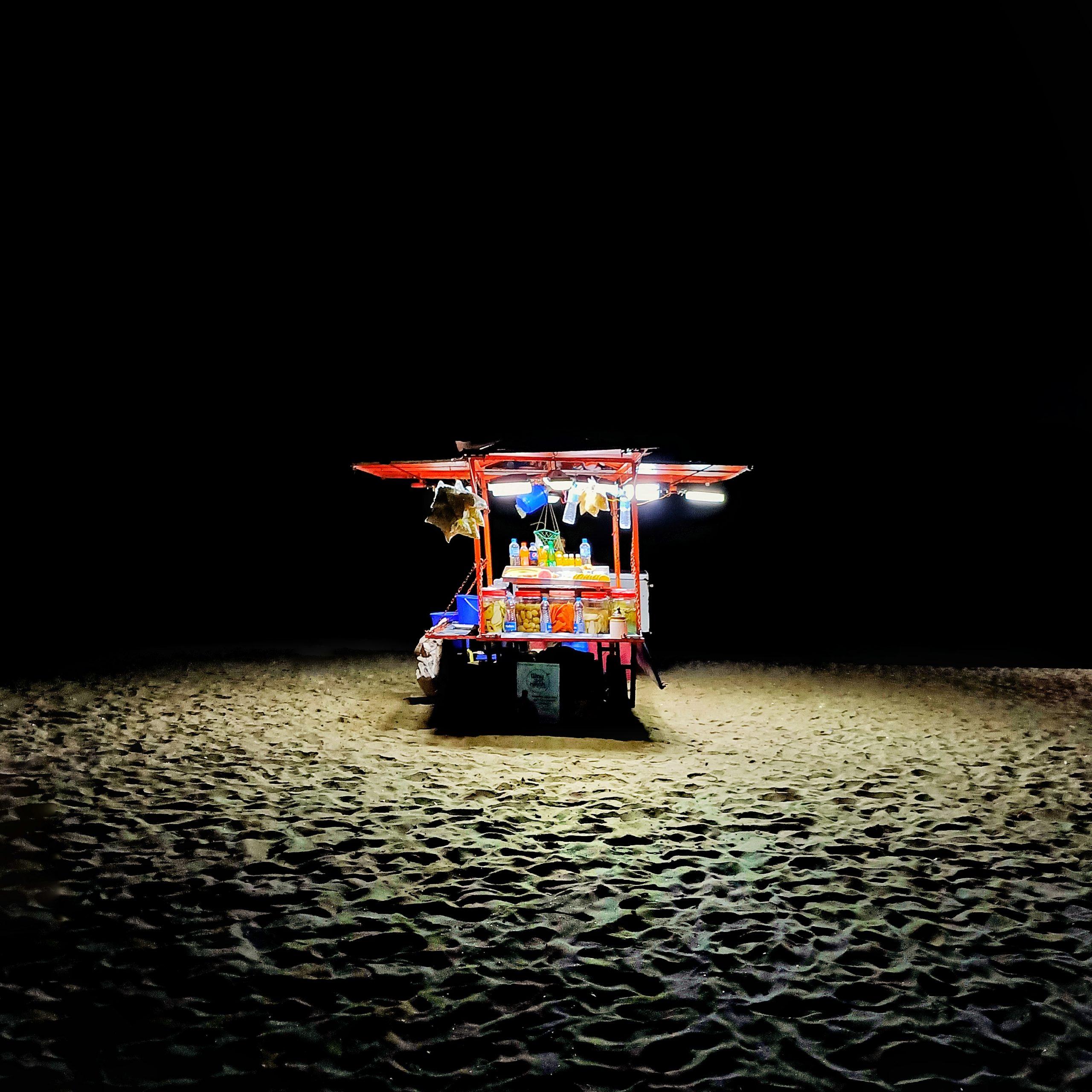 A food counter at Calicut beach