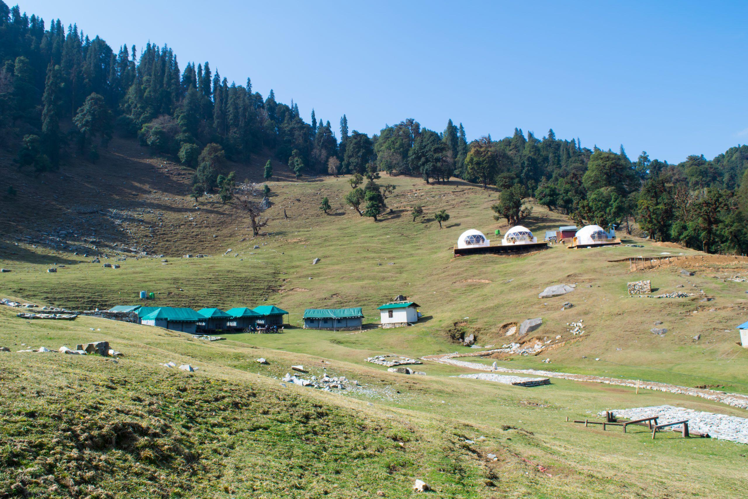 Camping site at Chopta