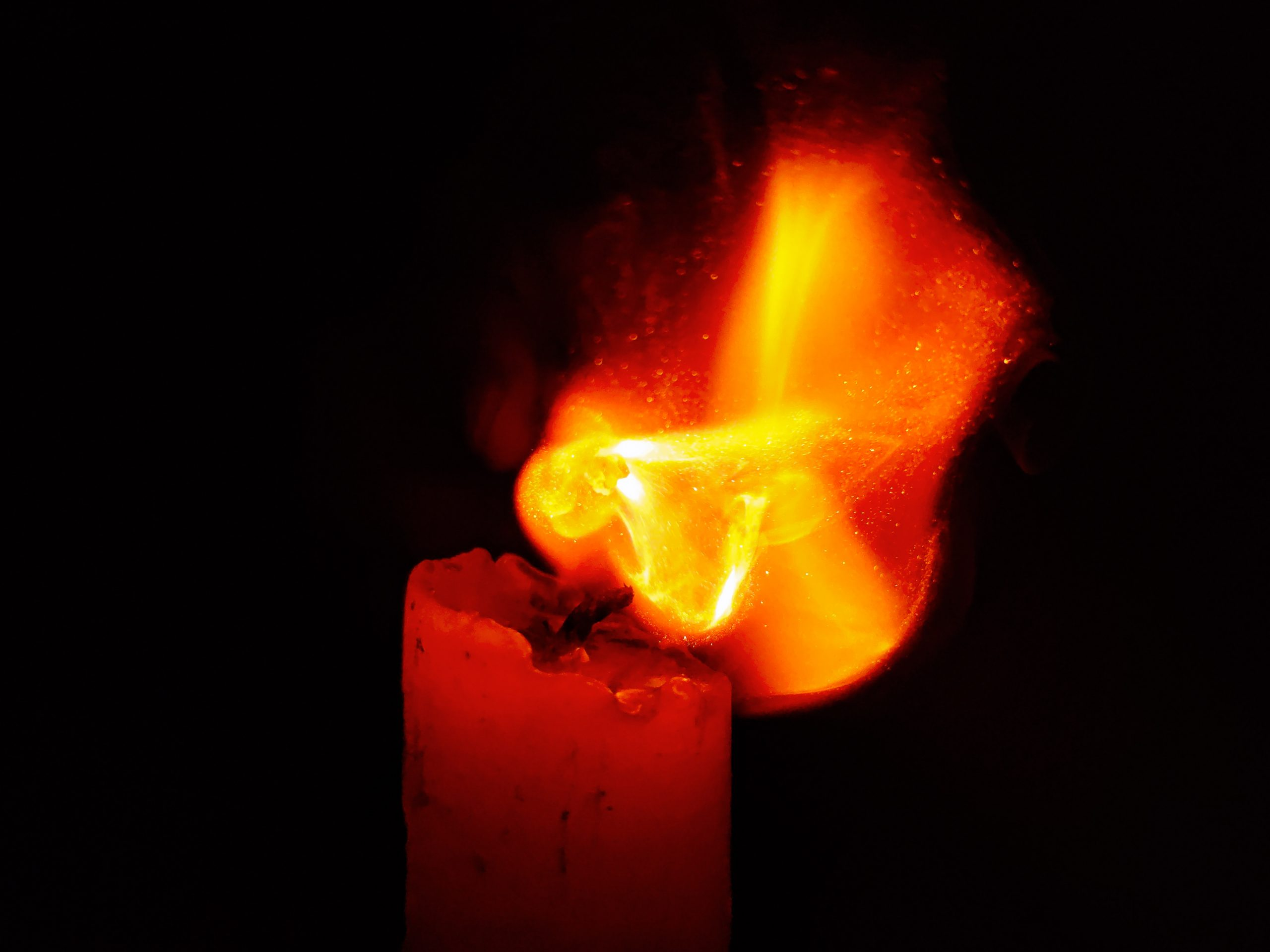 Candle Flame on Focus