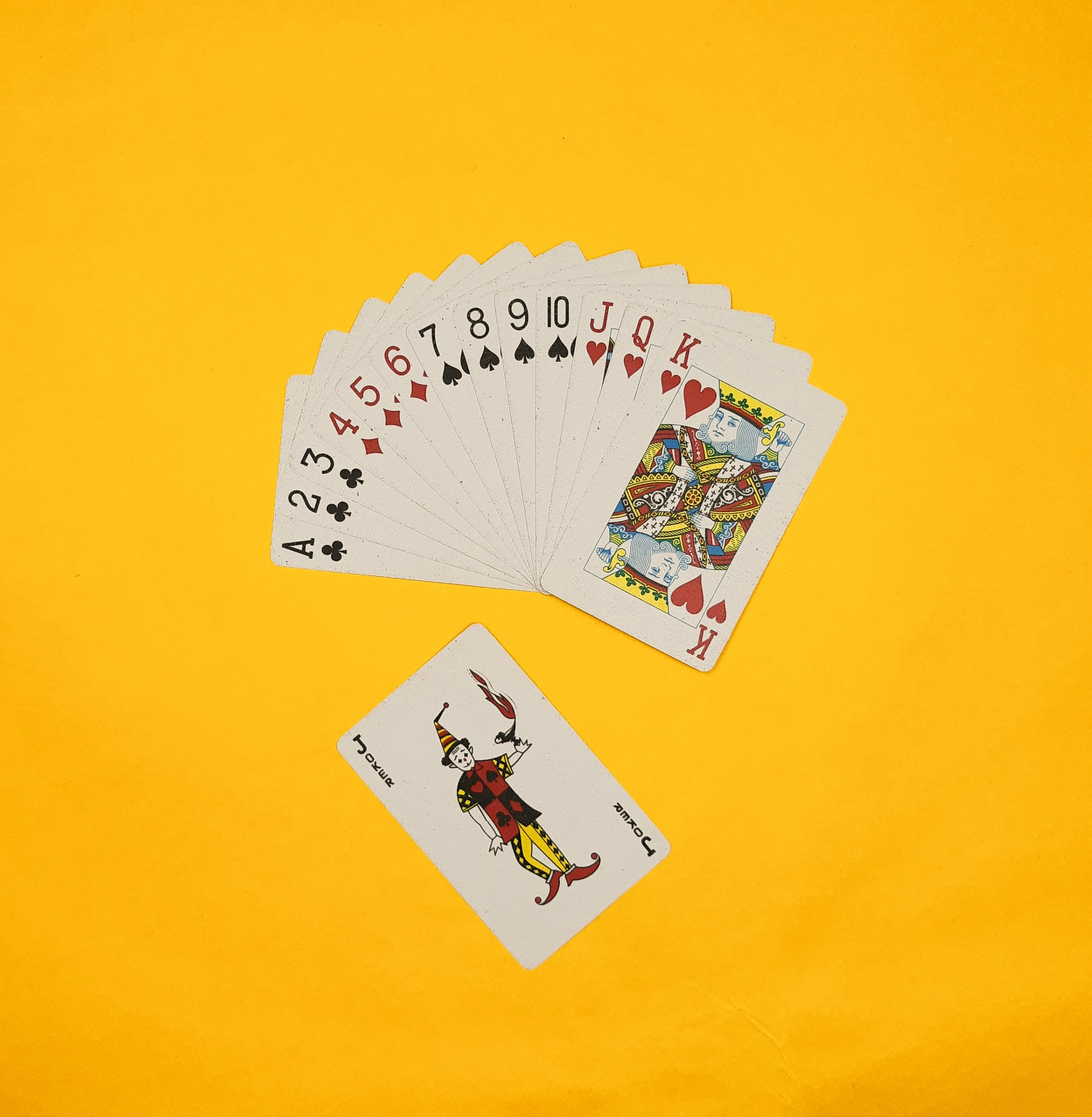Cards on pile
