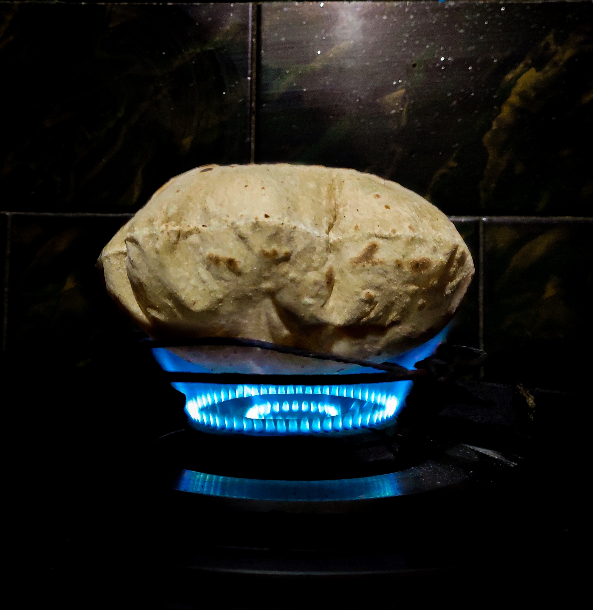 Chapati puffing up