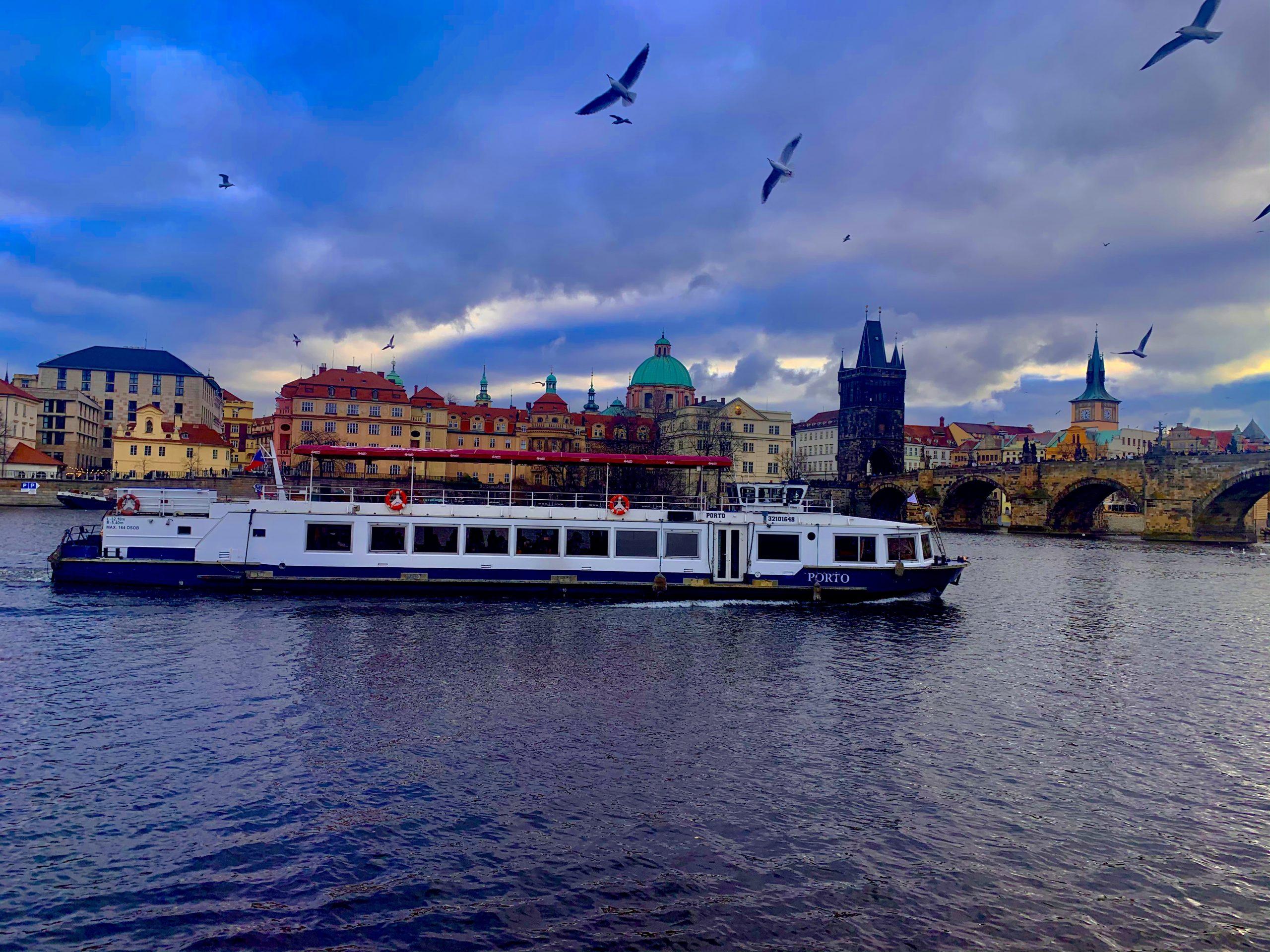 Aesthetic scene of Charles Bridge in Prague.