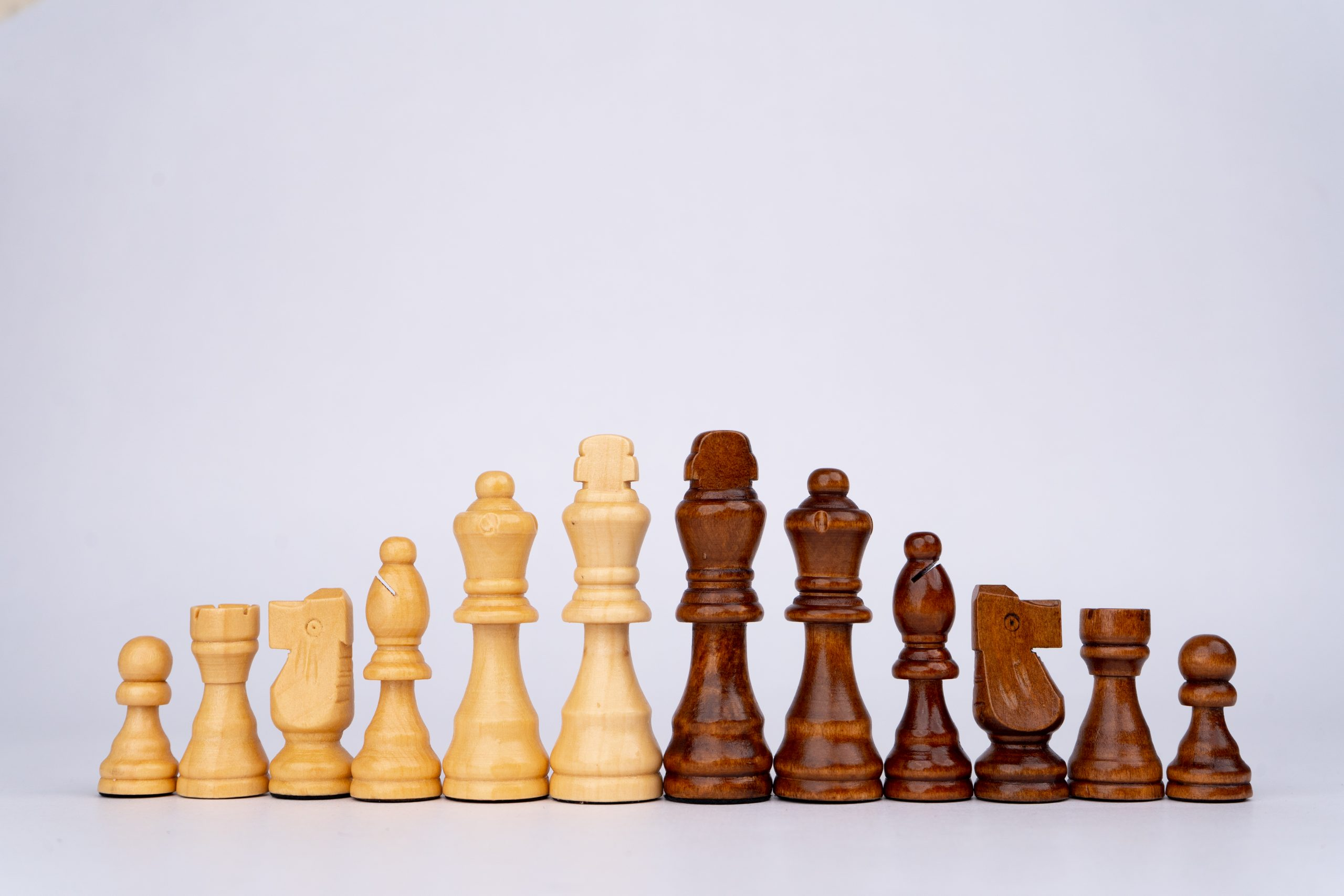 Chess pieces in order