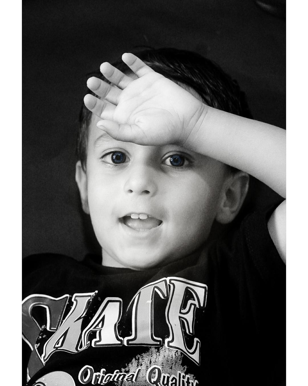 Child portrait in Black and White