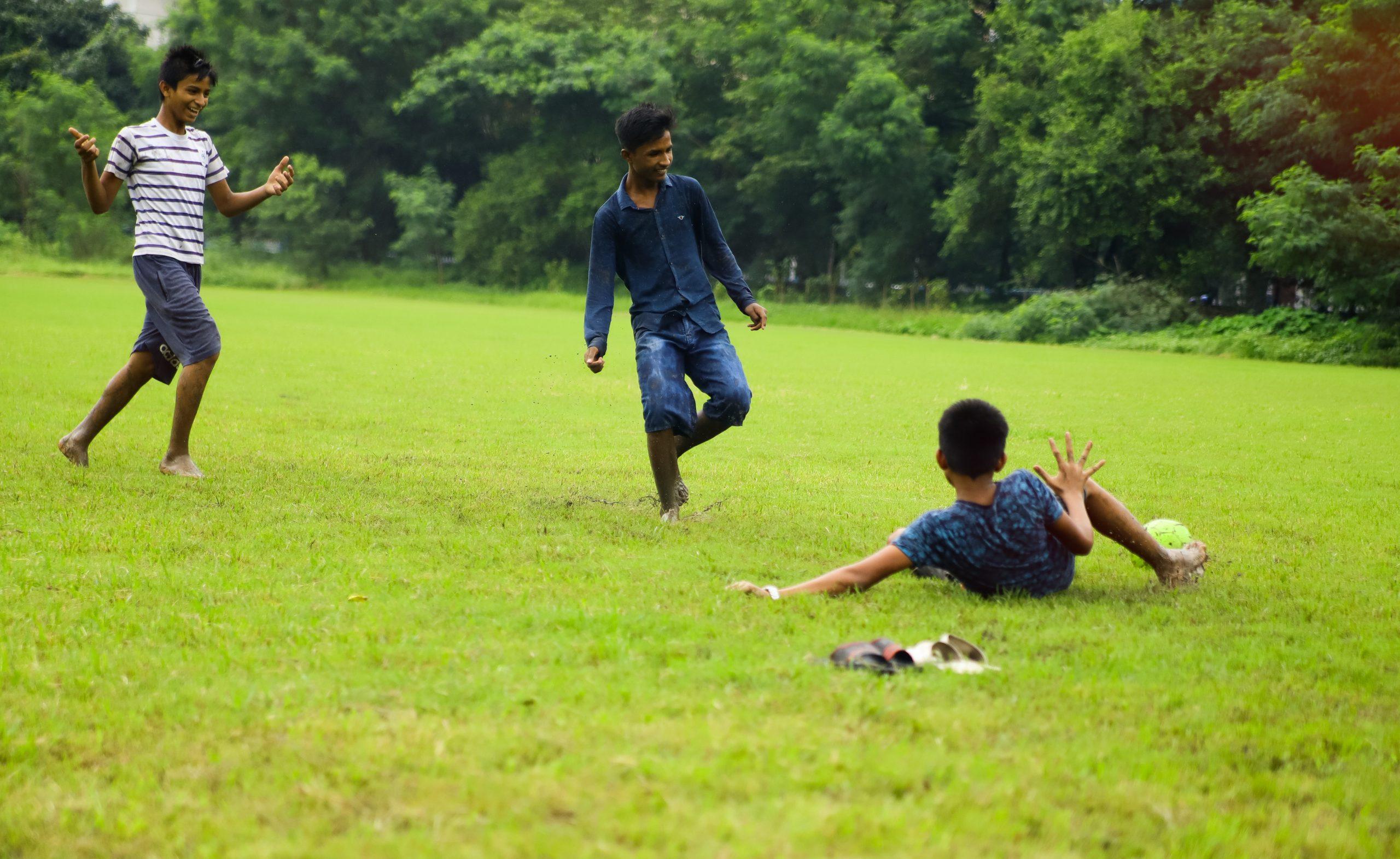 Children playing football 2019 Kolkata