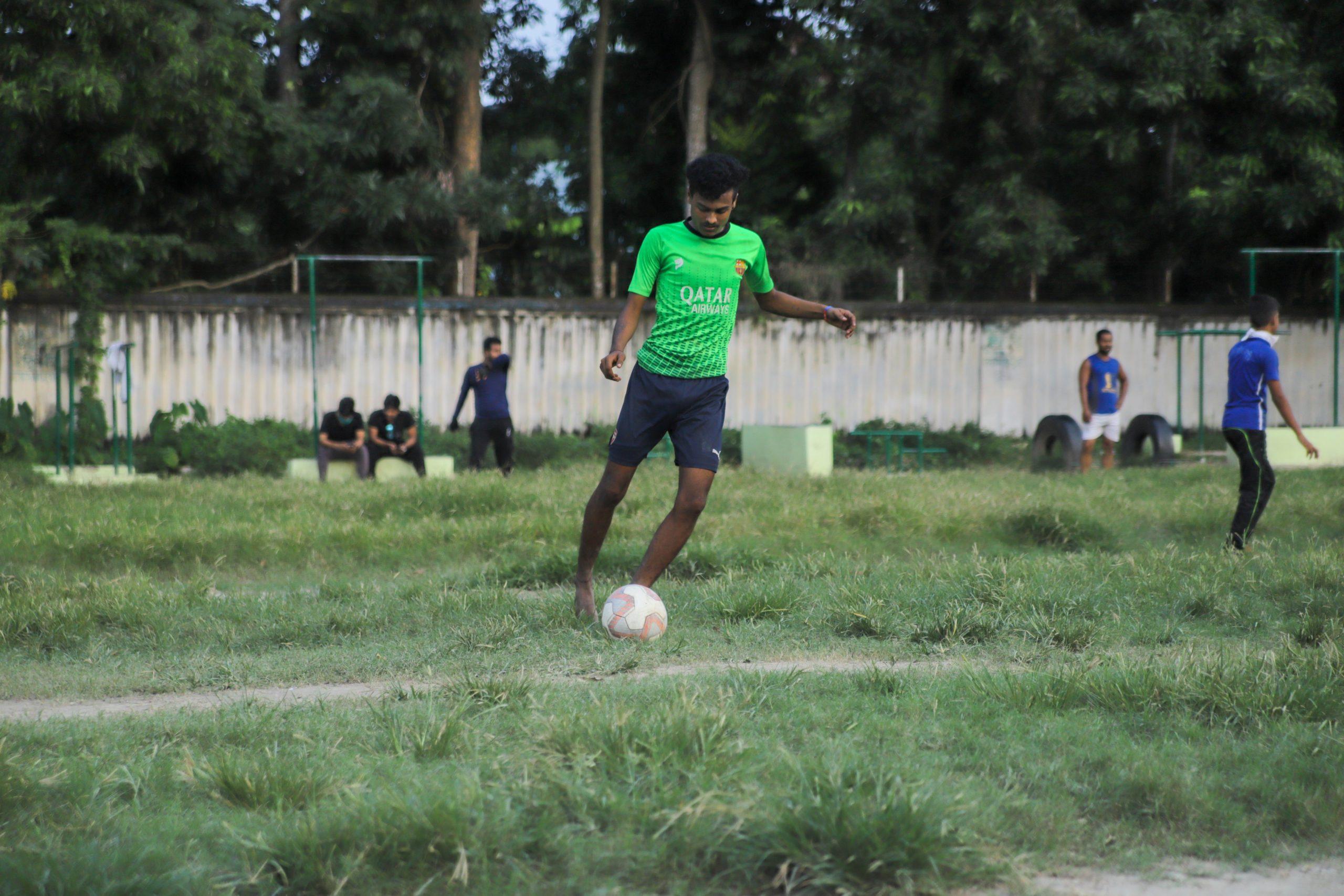 Men playing football 2020 Kolkata