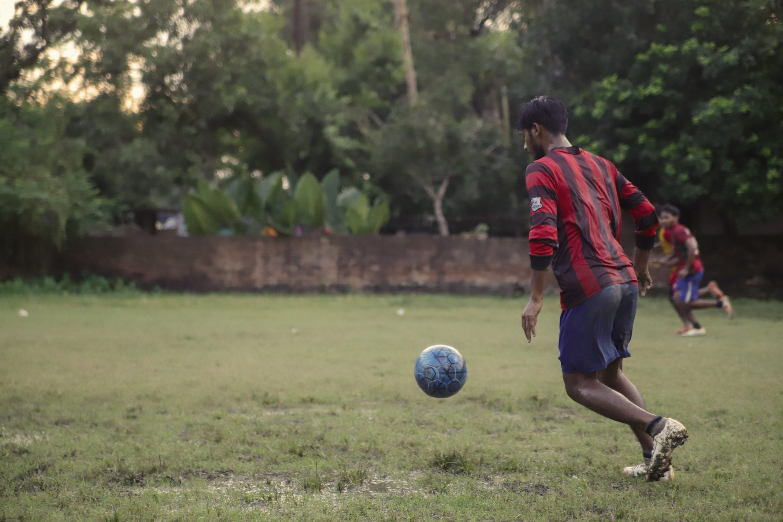 Children playing football in Kolkata