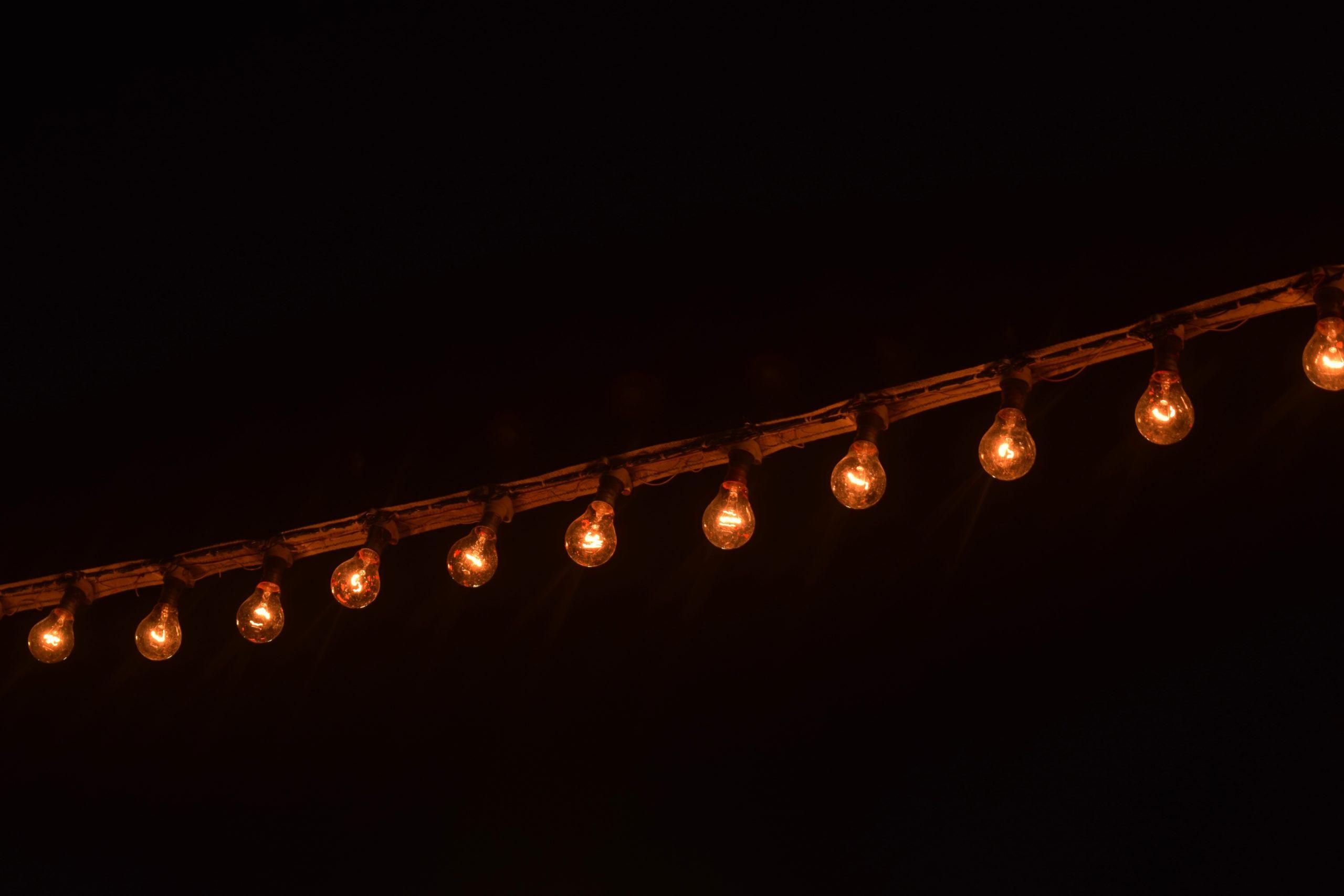 a series of light bulbs