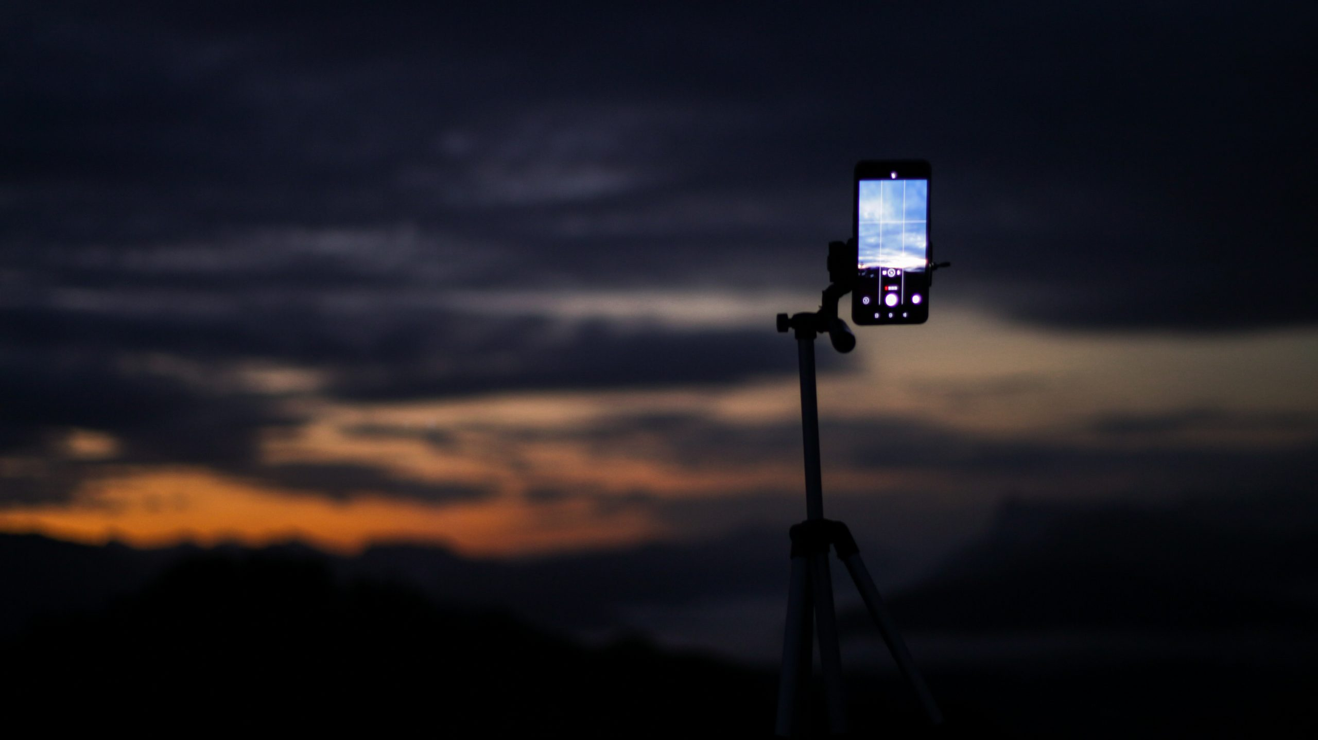 Cloud Taking Photo on a Smartphone