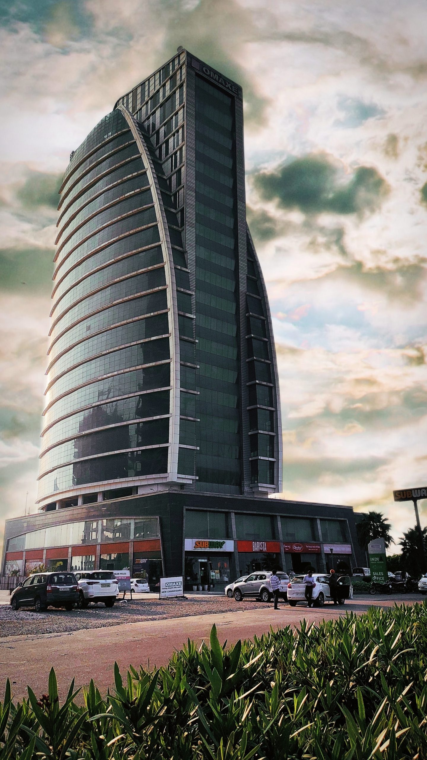 Commercial building tower