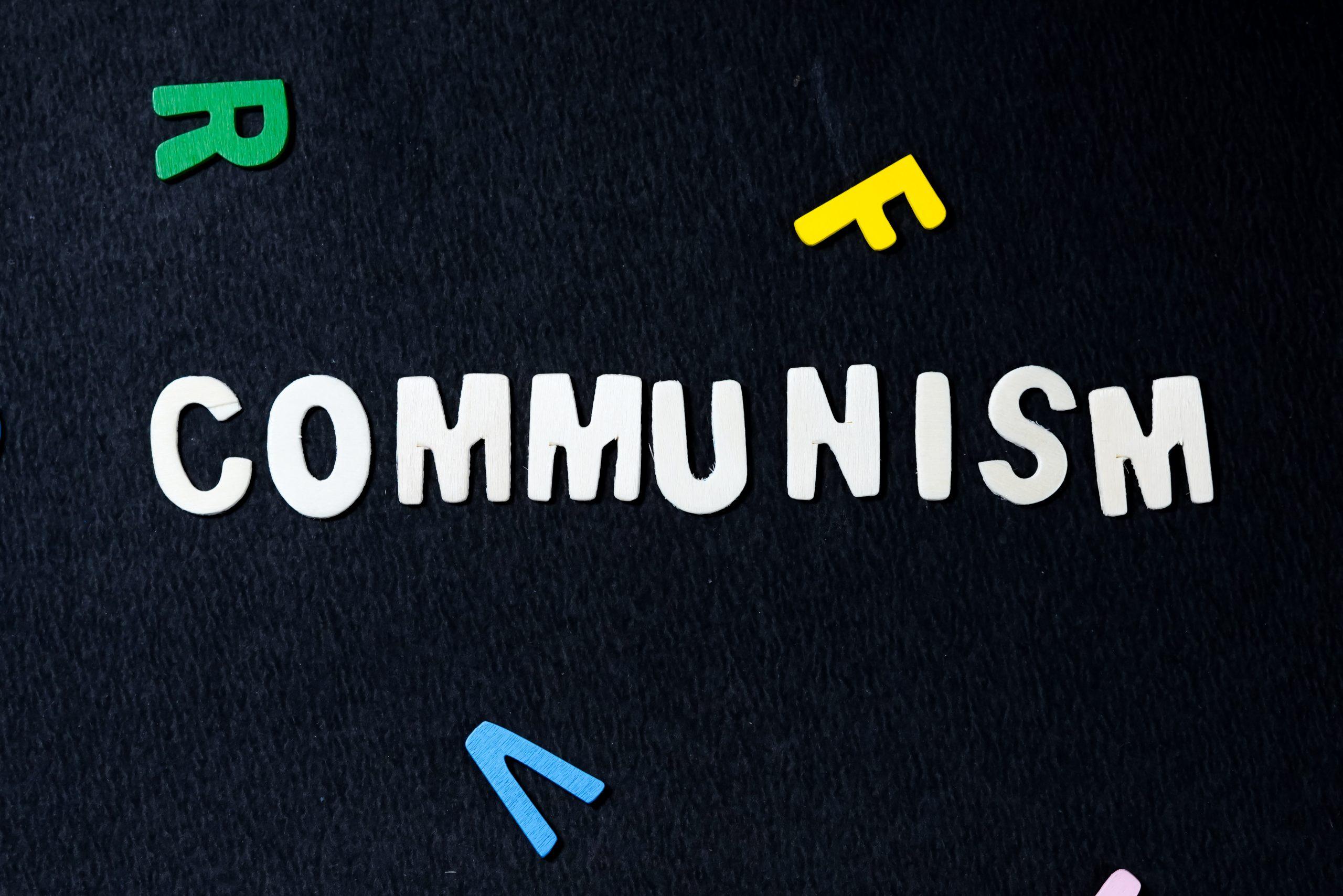 Communism written on scrabble