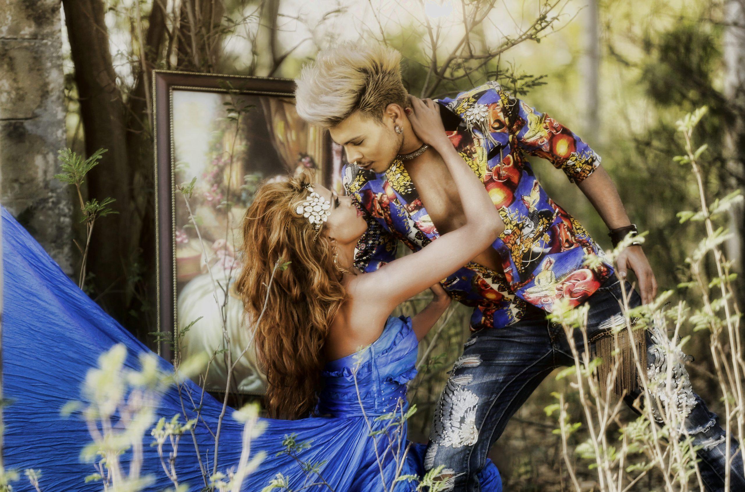 Couple fantasy landscape