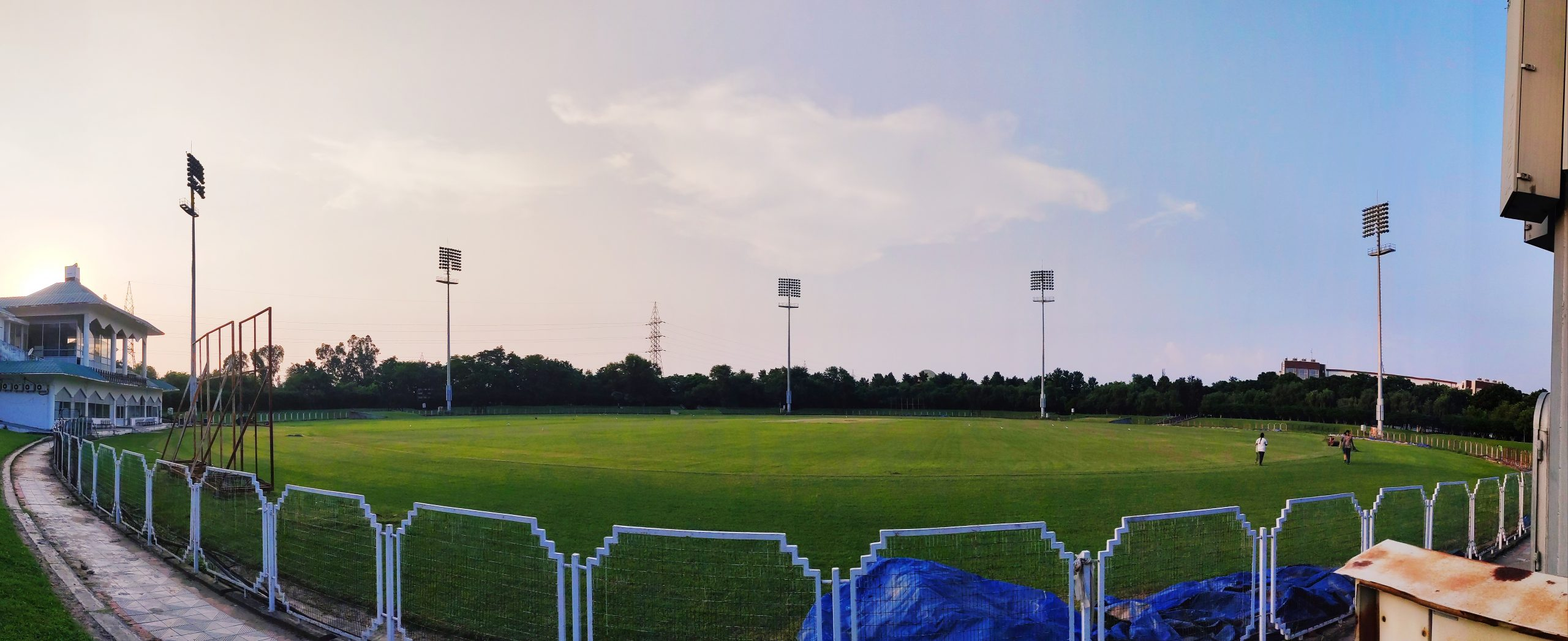 Cricket stadium panorama