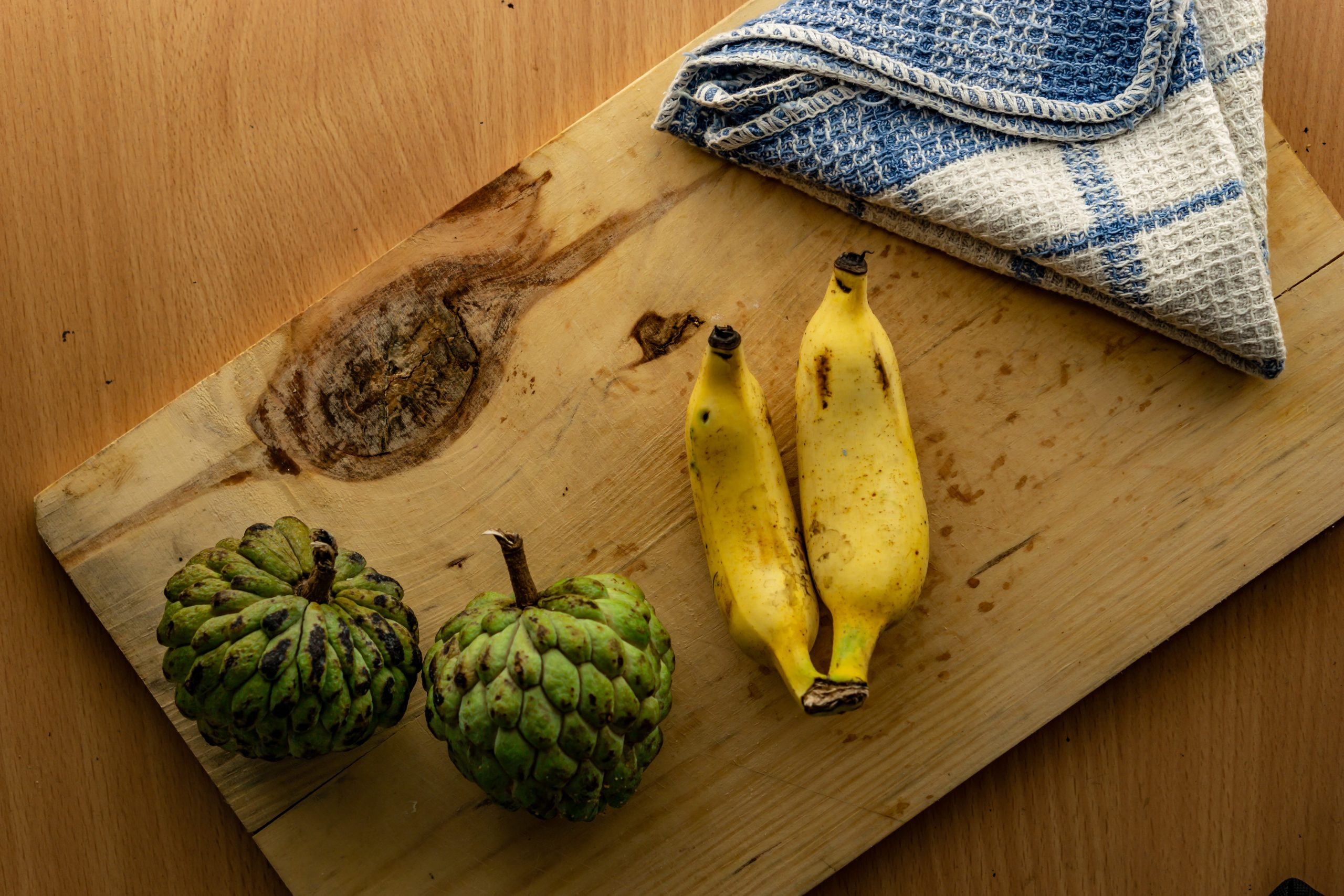 Custard apple and banana fruit as a healthy diet
