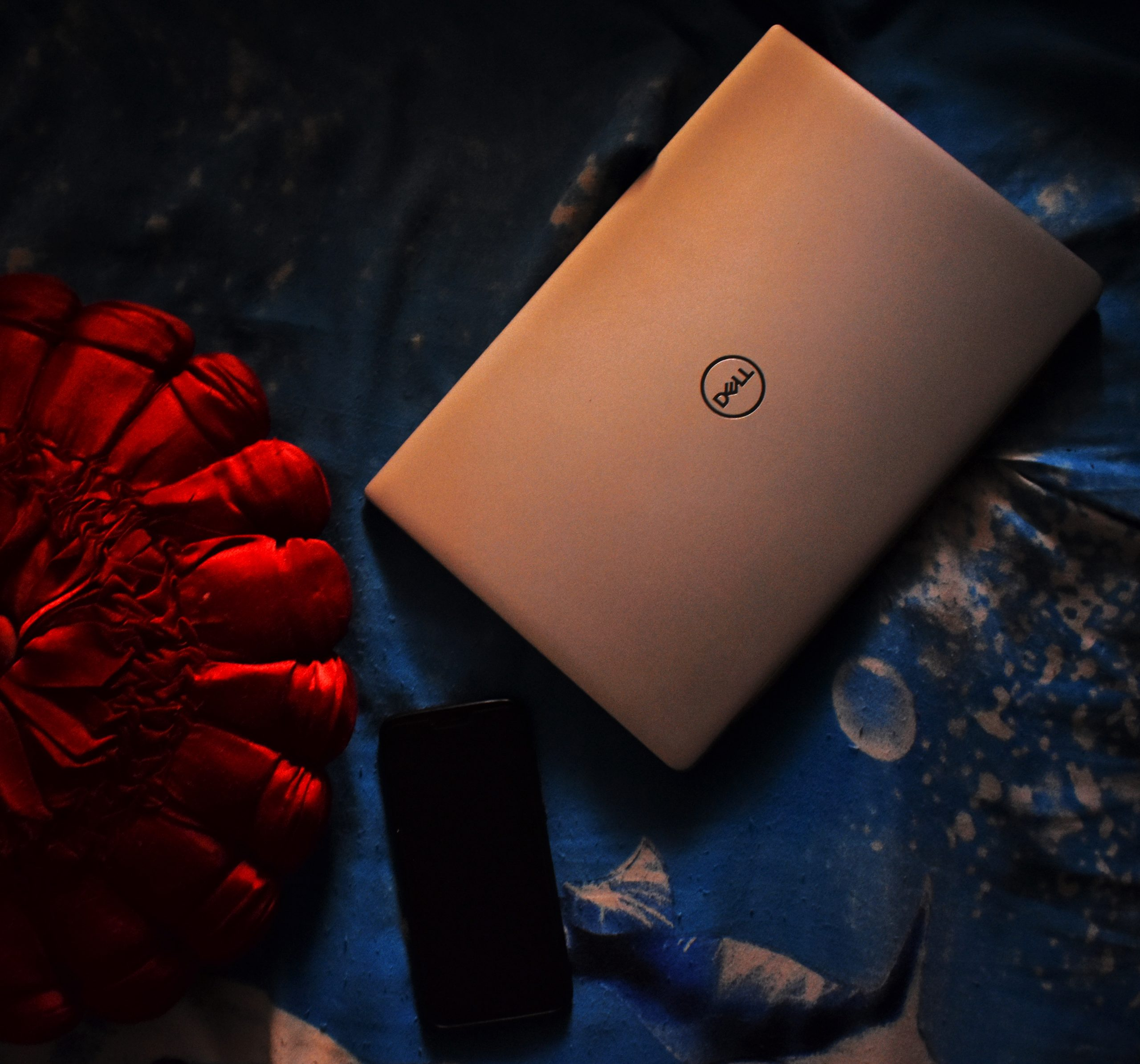 Dell Laptop with Cellphone