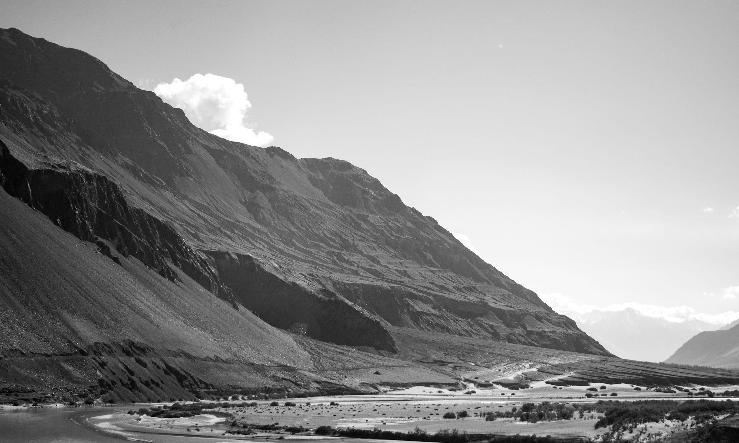 Desert mountains of Himalayan range