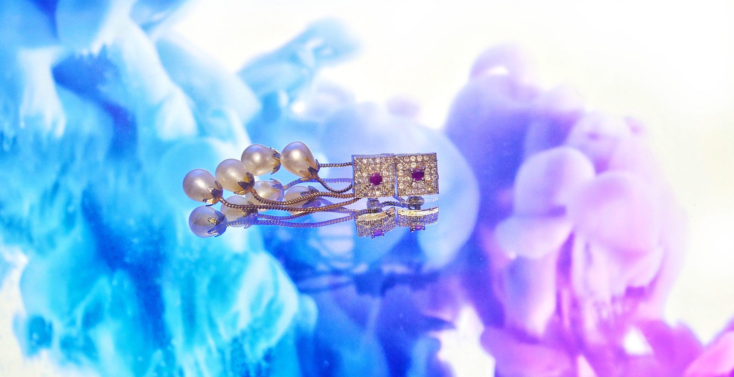Designer Earrings with pearl