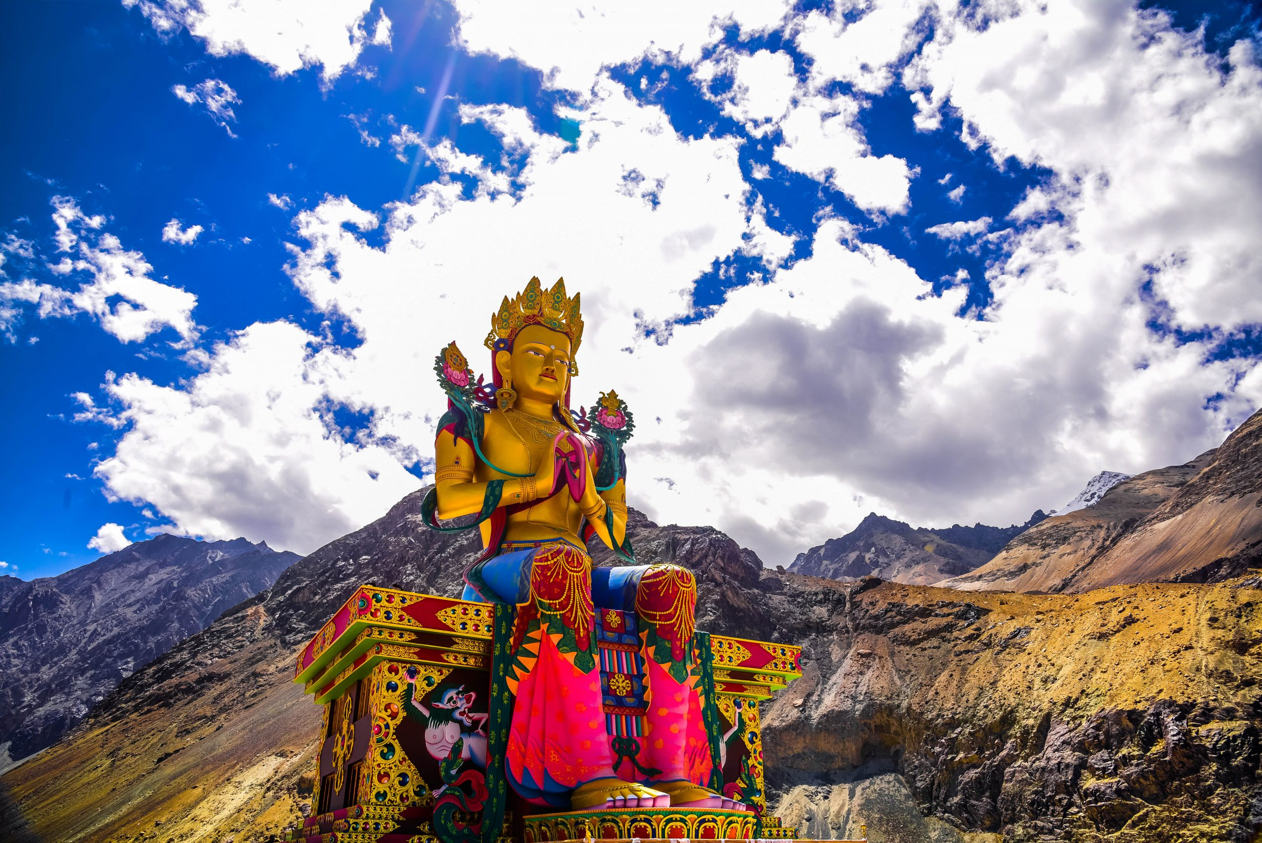 Diskit Monastery in Ladakh