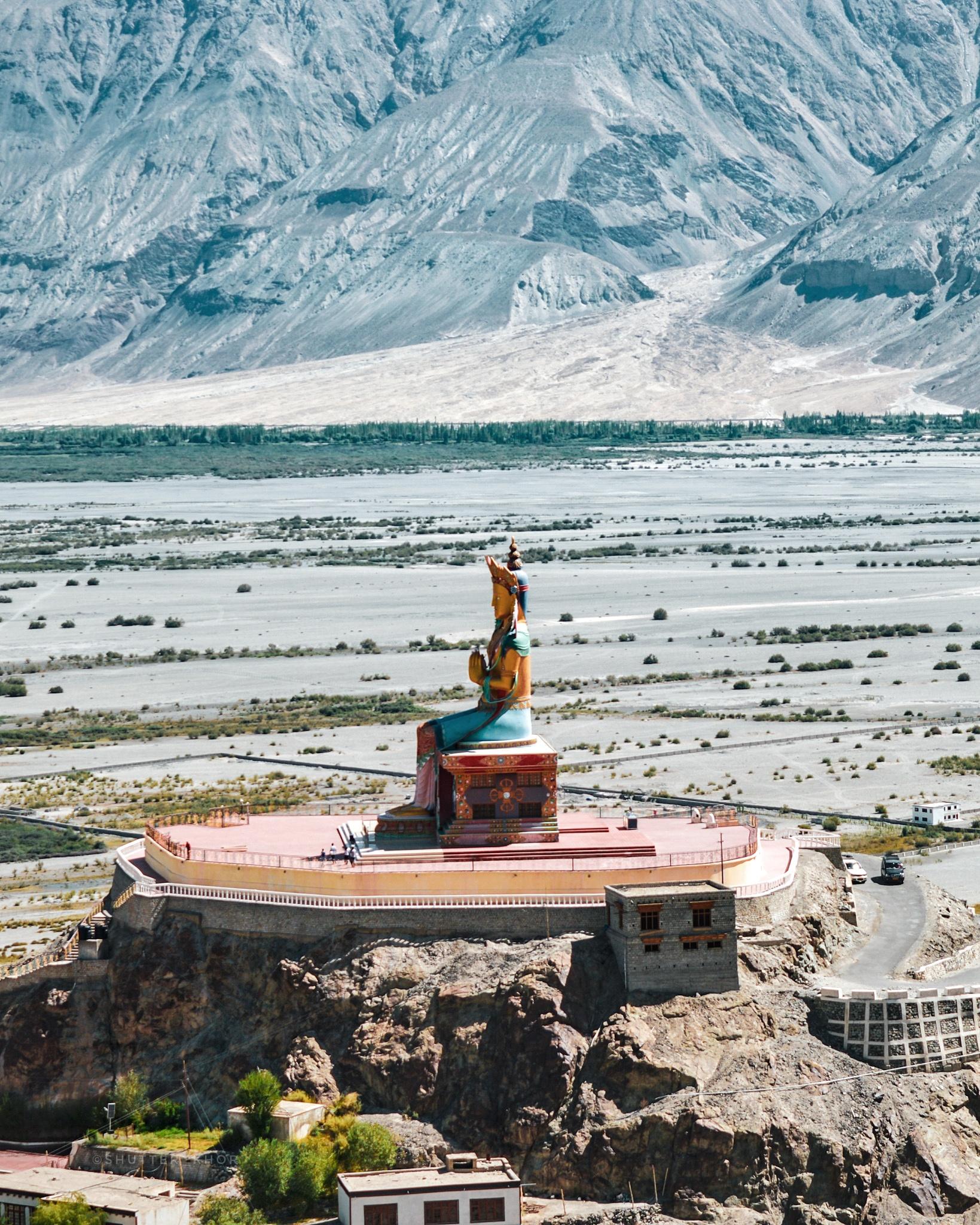 Diskit Monastery in the Nubra Valley of Ladakh